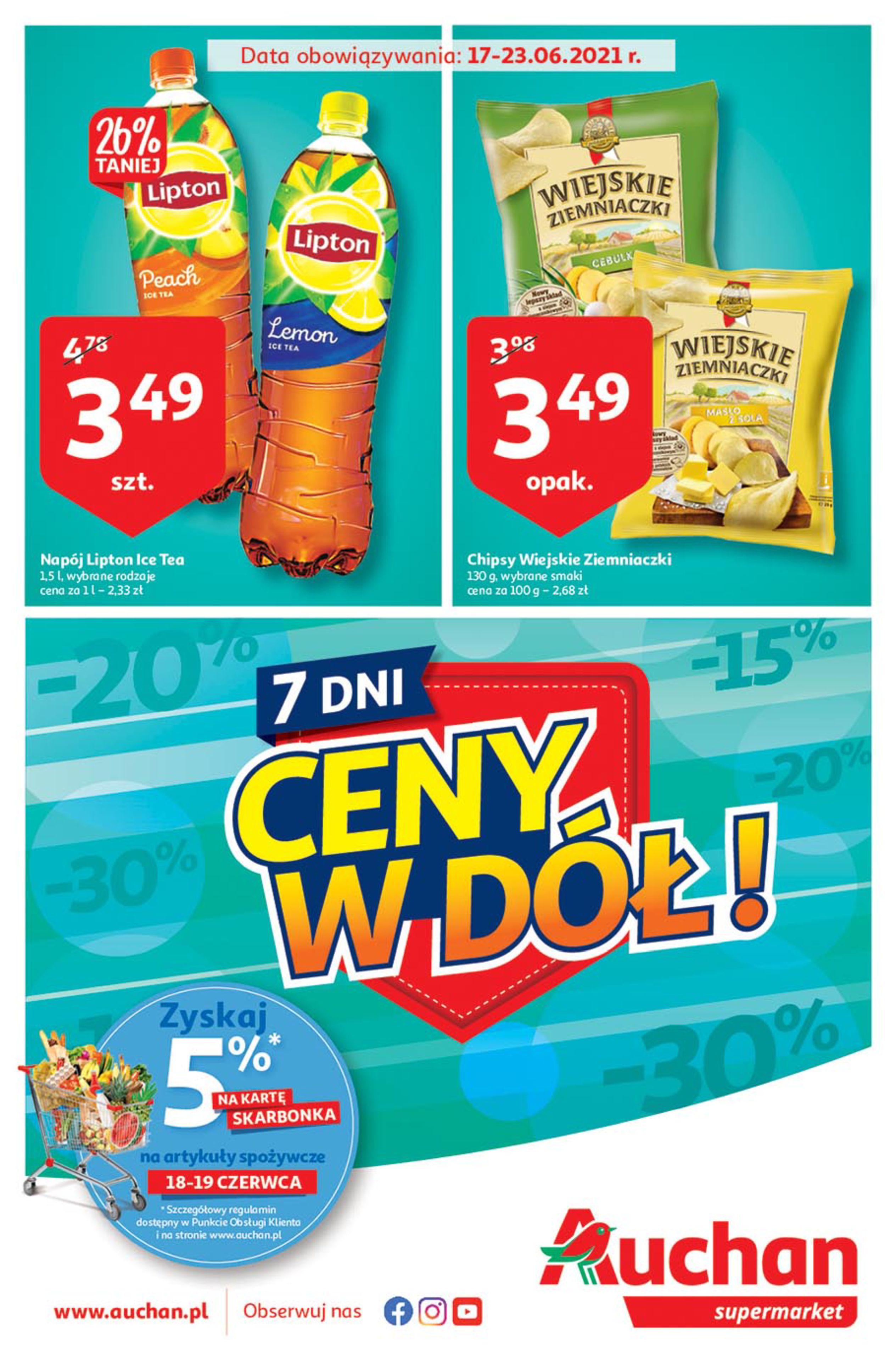 Auchan:  Gazetka Auchan - Ceny w dół 16.06.2021