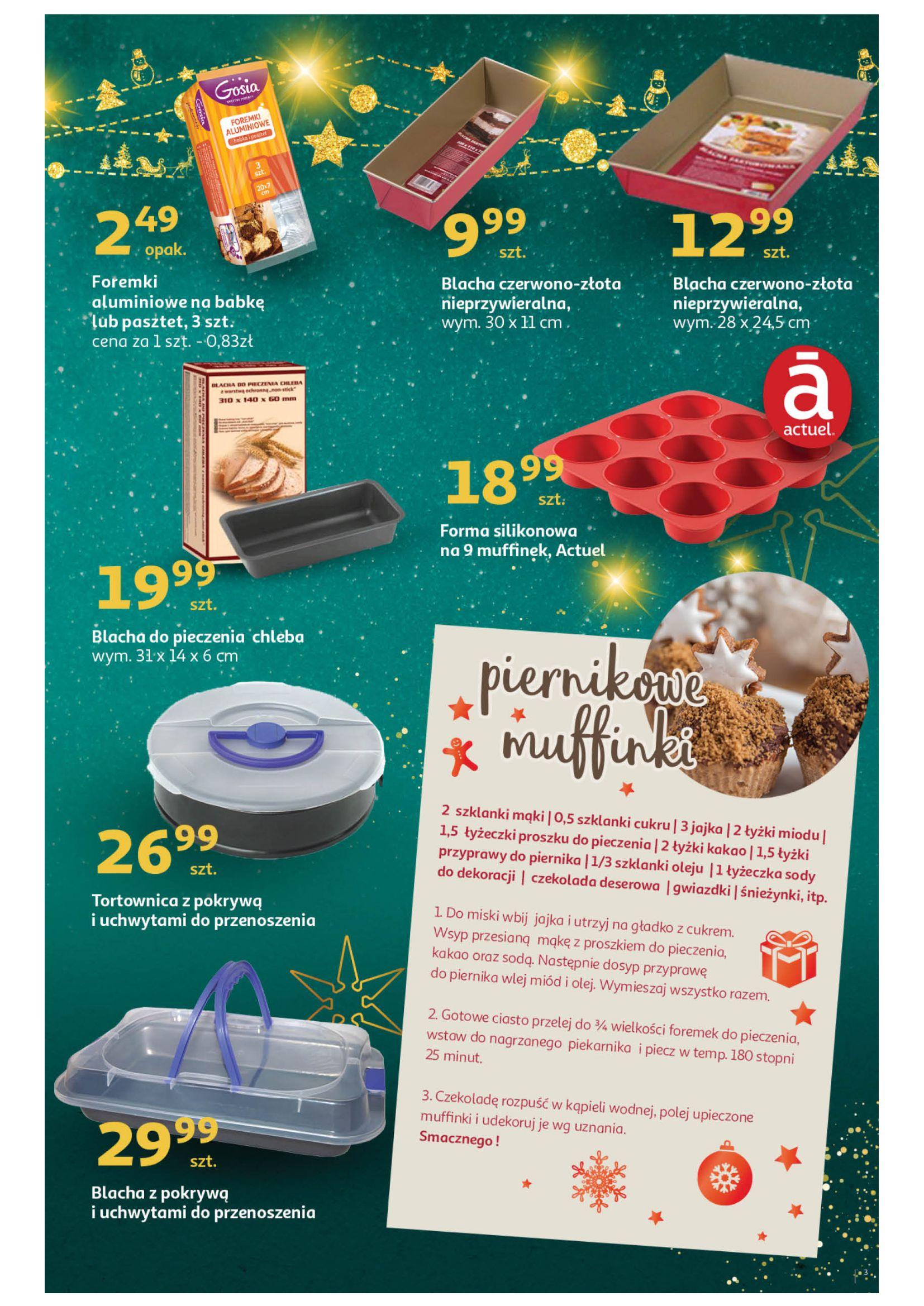 Gazetka Auchan: Świąteczne wypieki Hipermarkety 2020-11-16 page-3