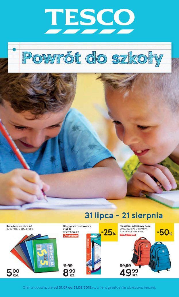 Gazetka Tesco - Powrót do szkoły-13.08.2019-21.08.2019-page-1