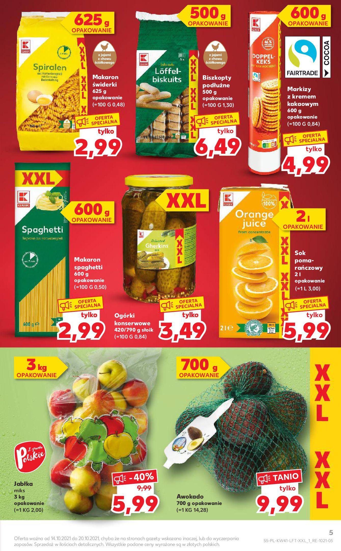 Gazetka Kaufland: Gazetka Kaufland 14-20.10. 2021-10-14 page-5