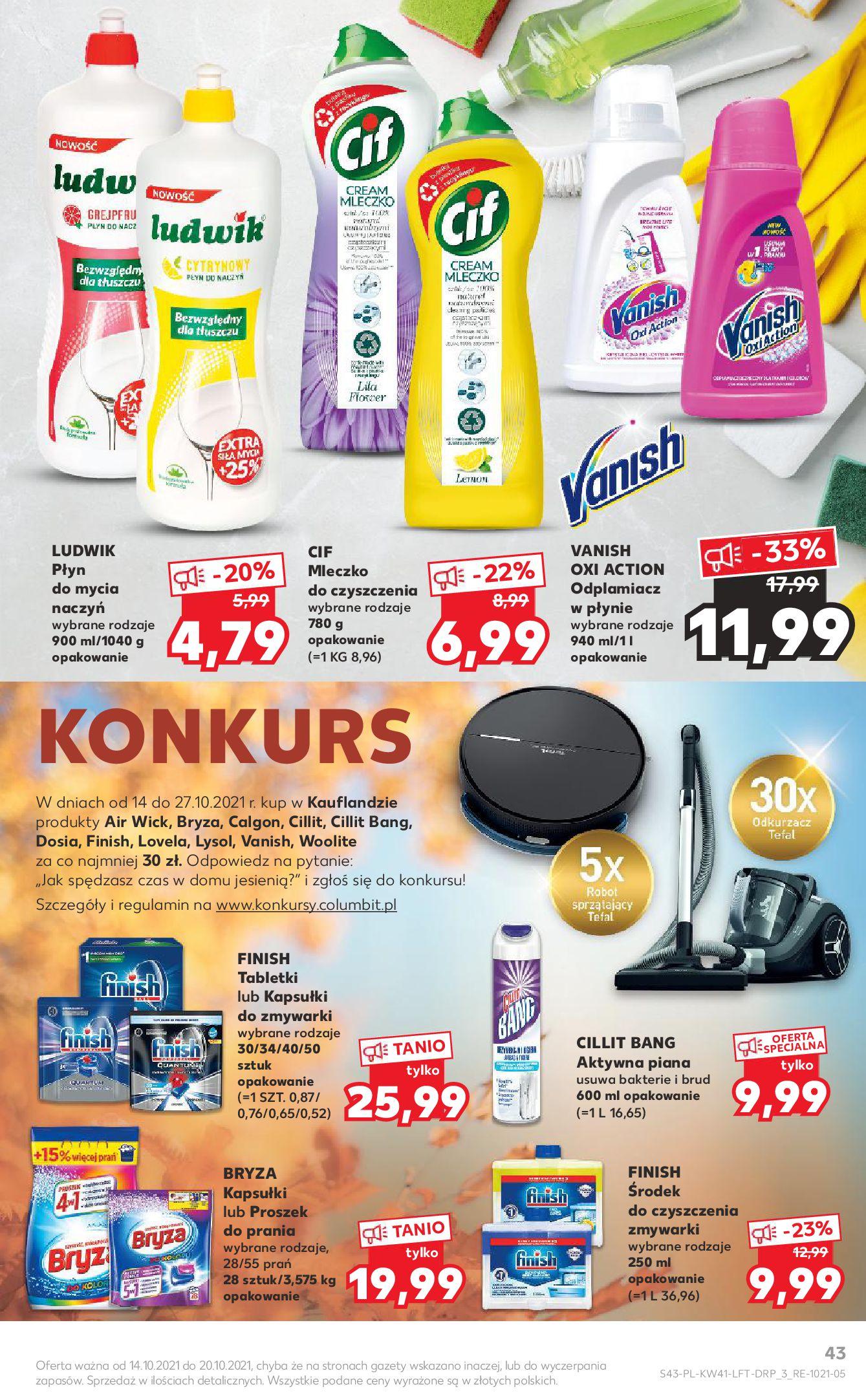 Gazetka Kaufland: Gazetka Kaufland 14-20.10. 2021-10-14 page-43