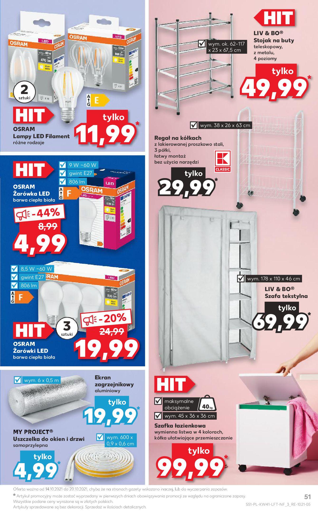 Gazetka Kaufland: Gazetka Kaufland 14-20.10. 2021-10-14 page-51