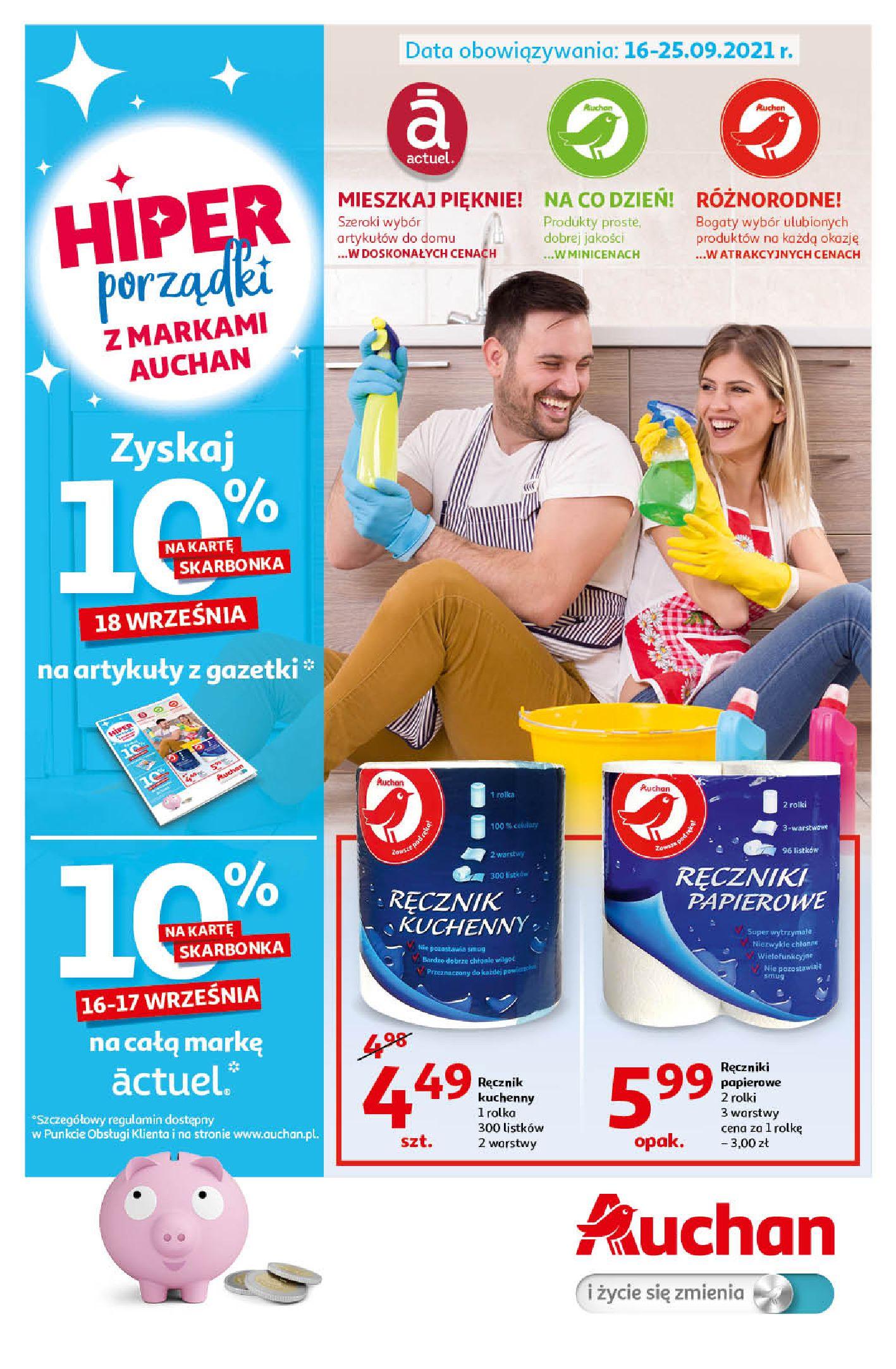 Gazetka Auchan: Gazetka Auchan - Porządki Hipermarkety 2021-09-16 page-1