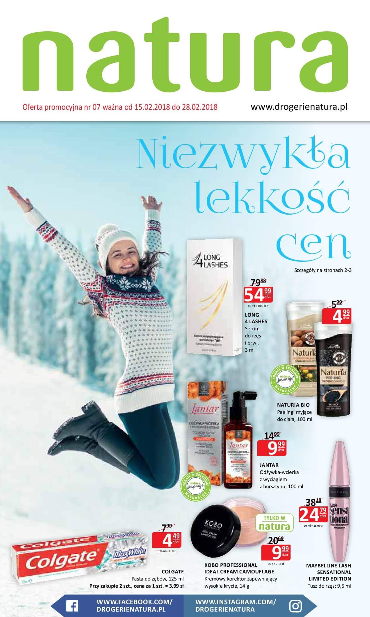 Gazetka Drogerie Natura - Oferta na art. kosmetyczne-14.02.2018-28.02.2018-page-1