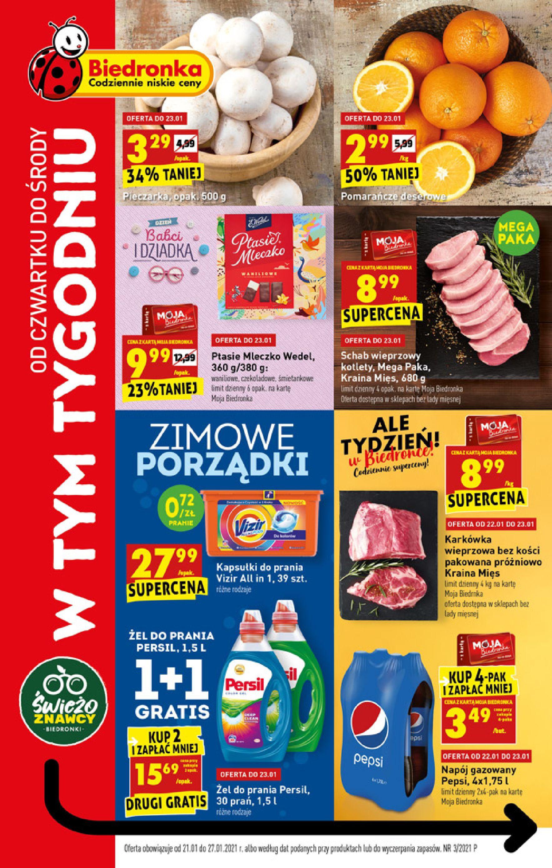 Gazetka Biedronka: Od czwartku 21.01 2021-01-21