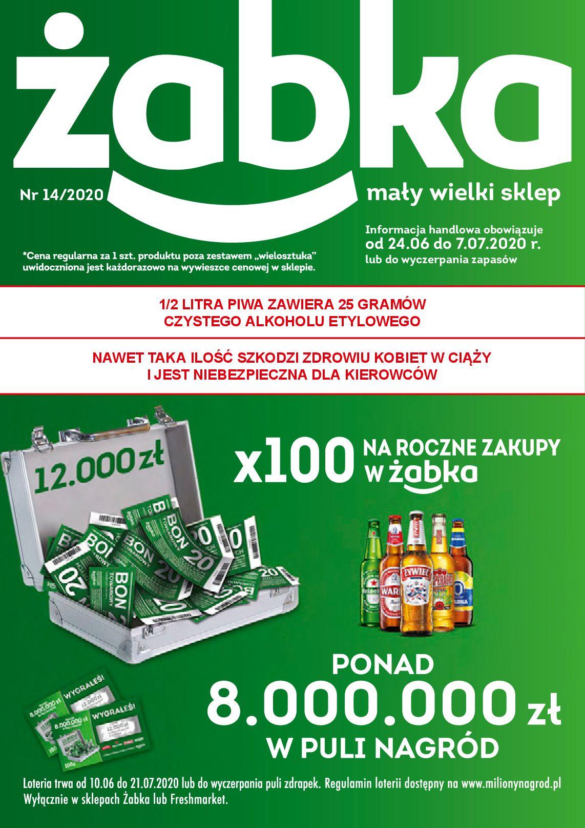 Gazetka Żabka - Gazetka promocyjna-23.06.2020-07.07.2020-page-1