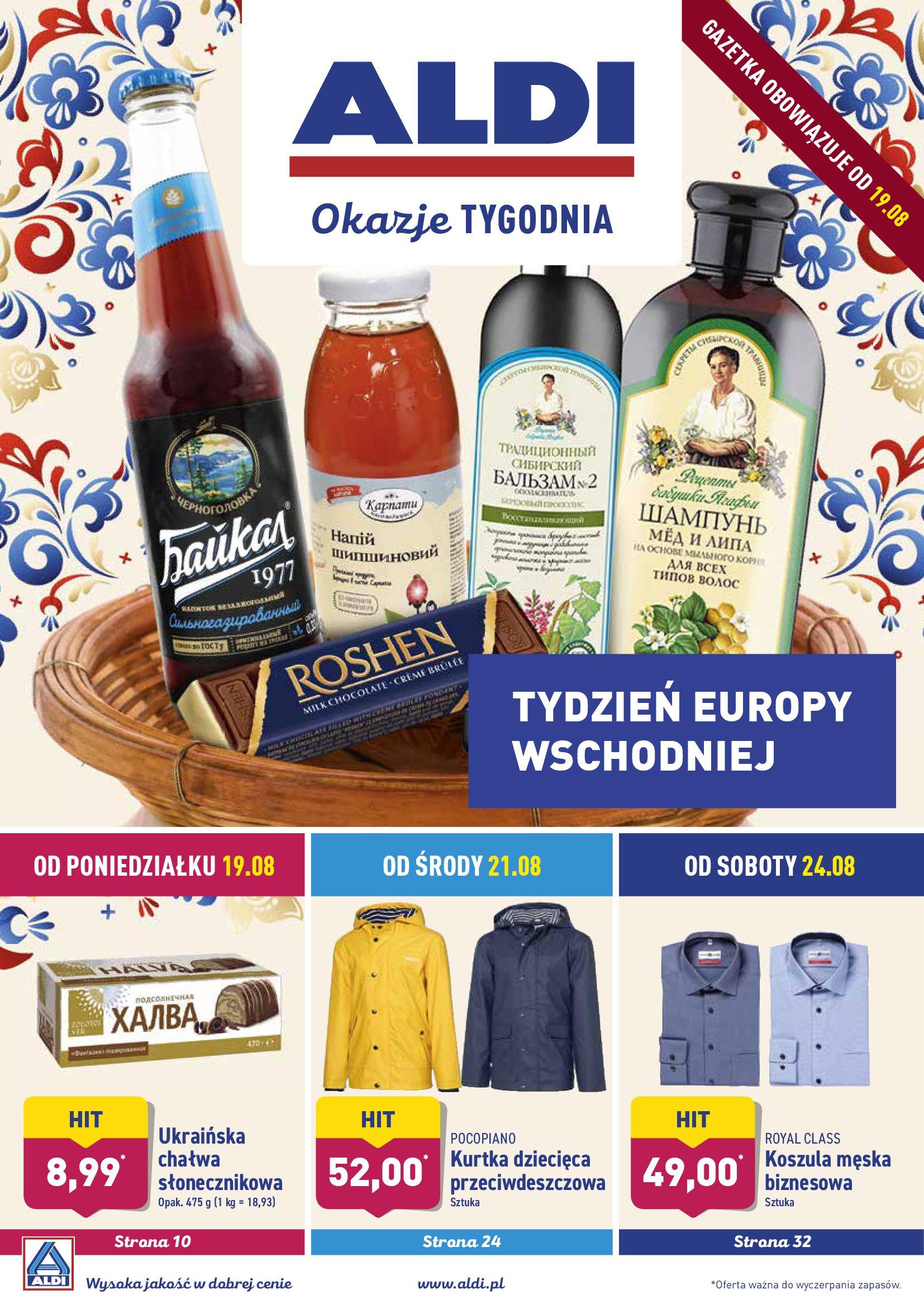 Gazetka Aldi - TYDZIEŃ EUROPY WSCHODNIEJ-18.08.2019-25.08.2019-page-1