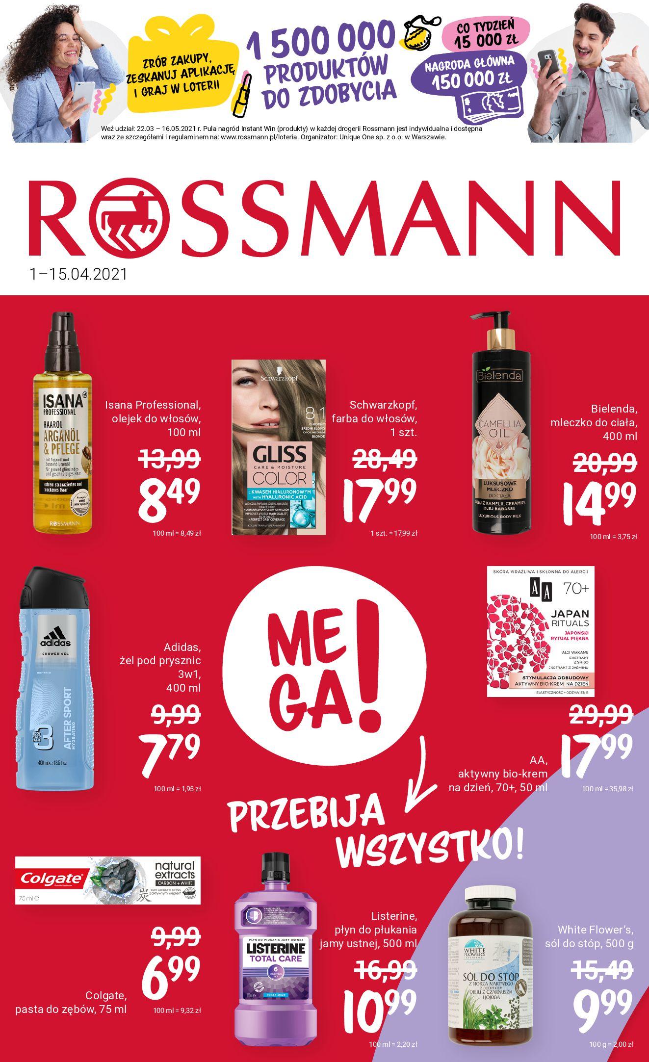 Rossmann:  Gazetka promocyjna od 01.04 31.03.2021
