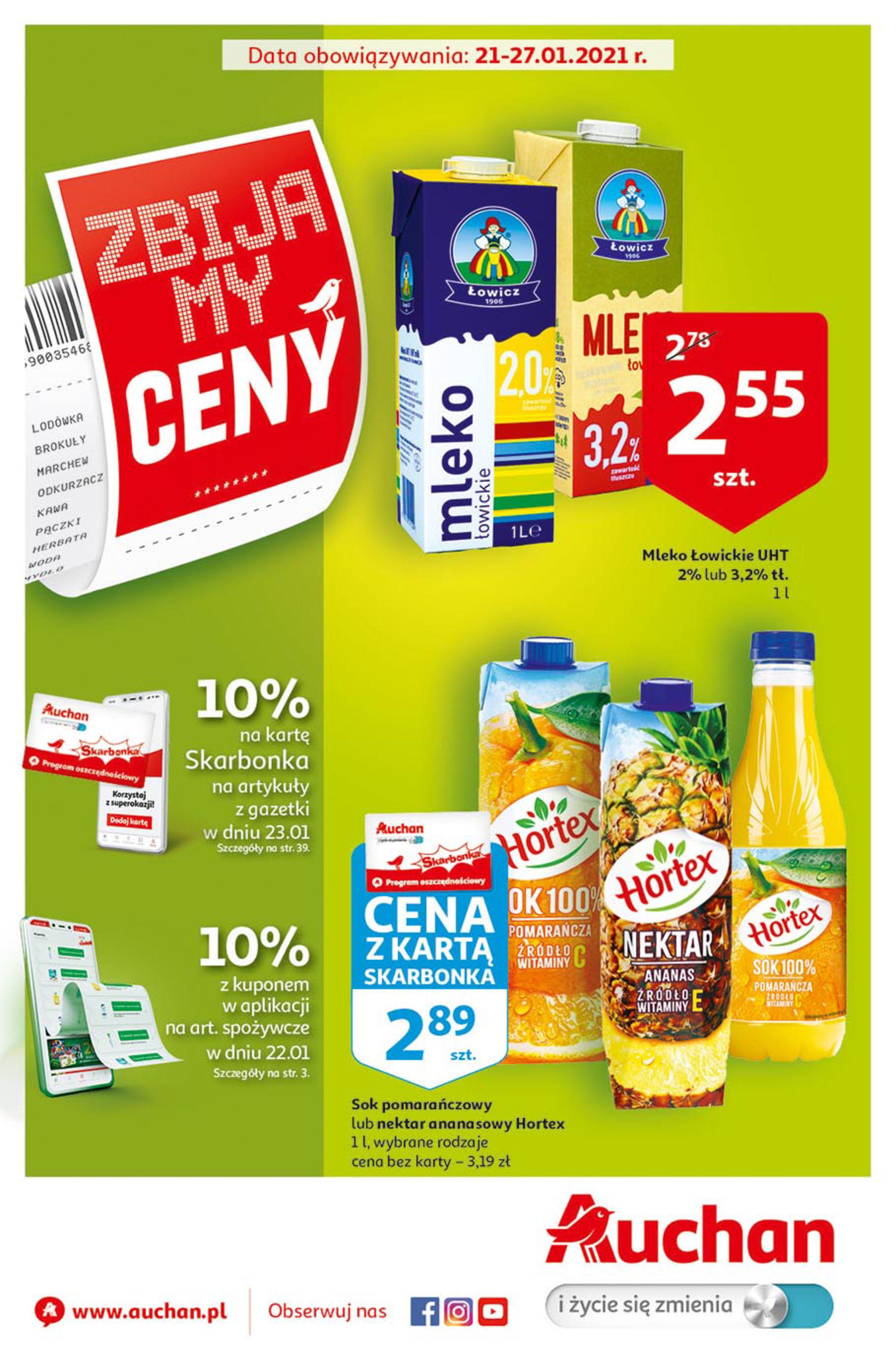 Auchan:  Zbijamy ceny 2 Hipermarkety 20.01.2021