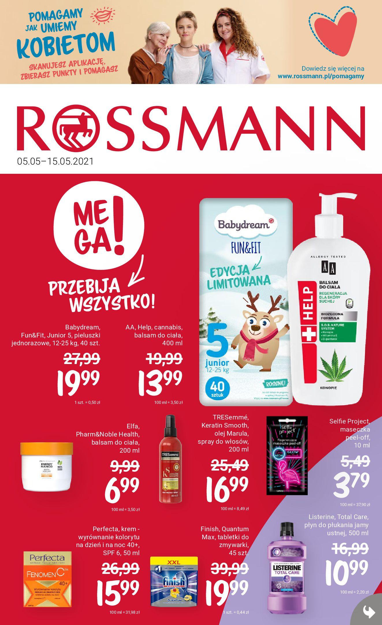 Rossmann:  Gazetka promocyjna od 05.05 04.05.2021