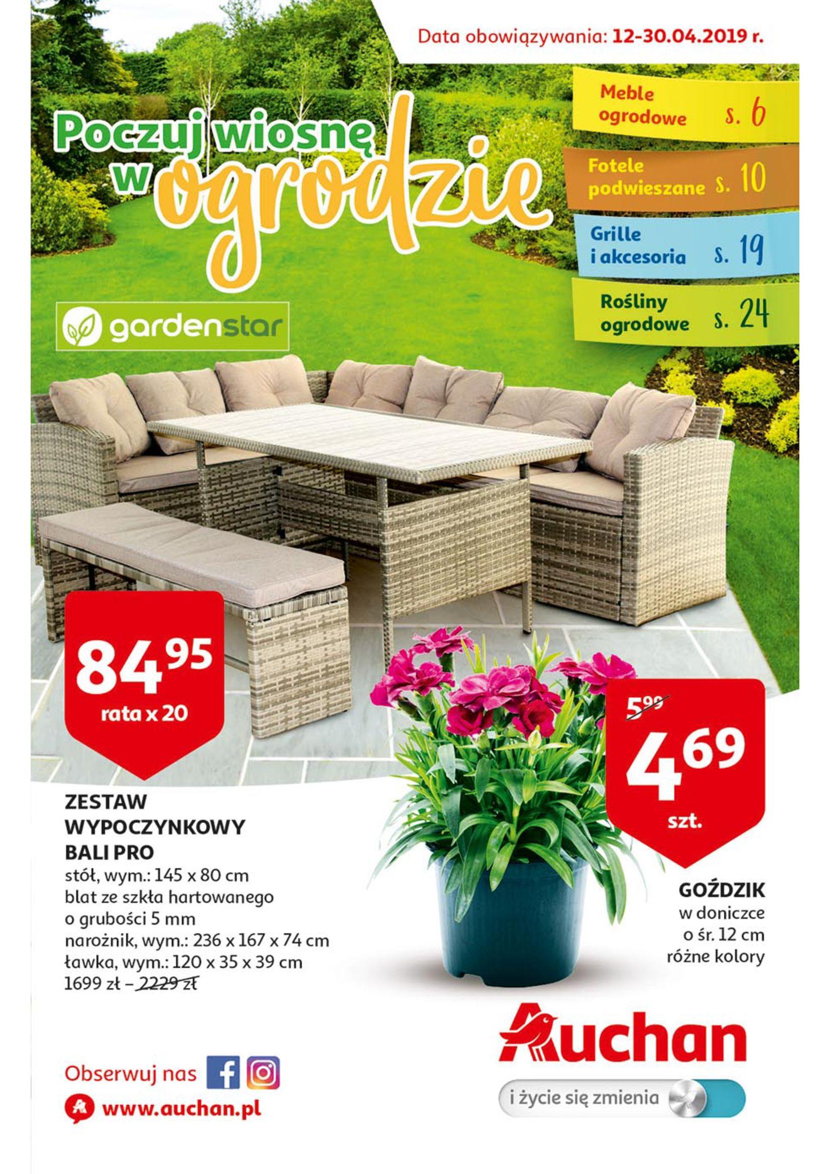 Gazetka Auchan - Poczuj wiosnę w ogrodzie Hipermarkety-11.04.2019-30.04.2019-page-
