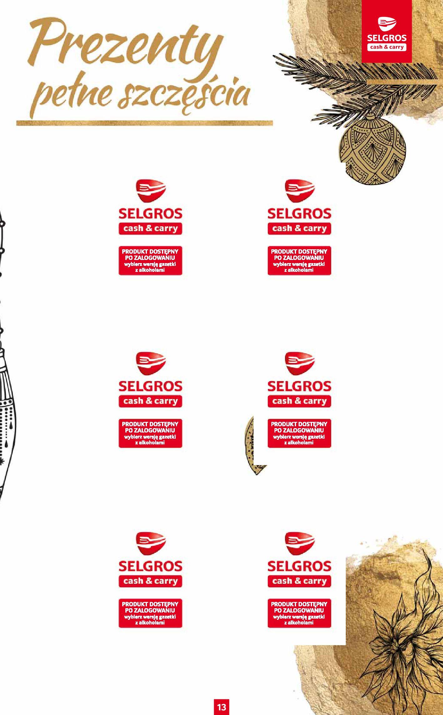 Gazetka Selgros: Katalog Prezenty 2020-11-19 page-13