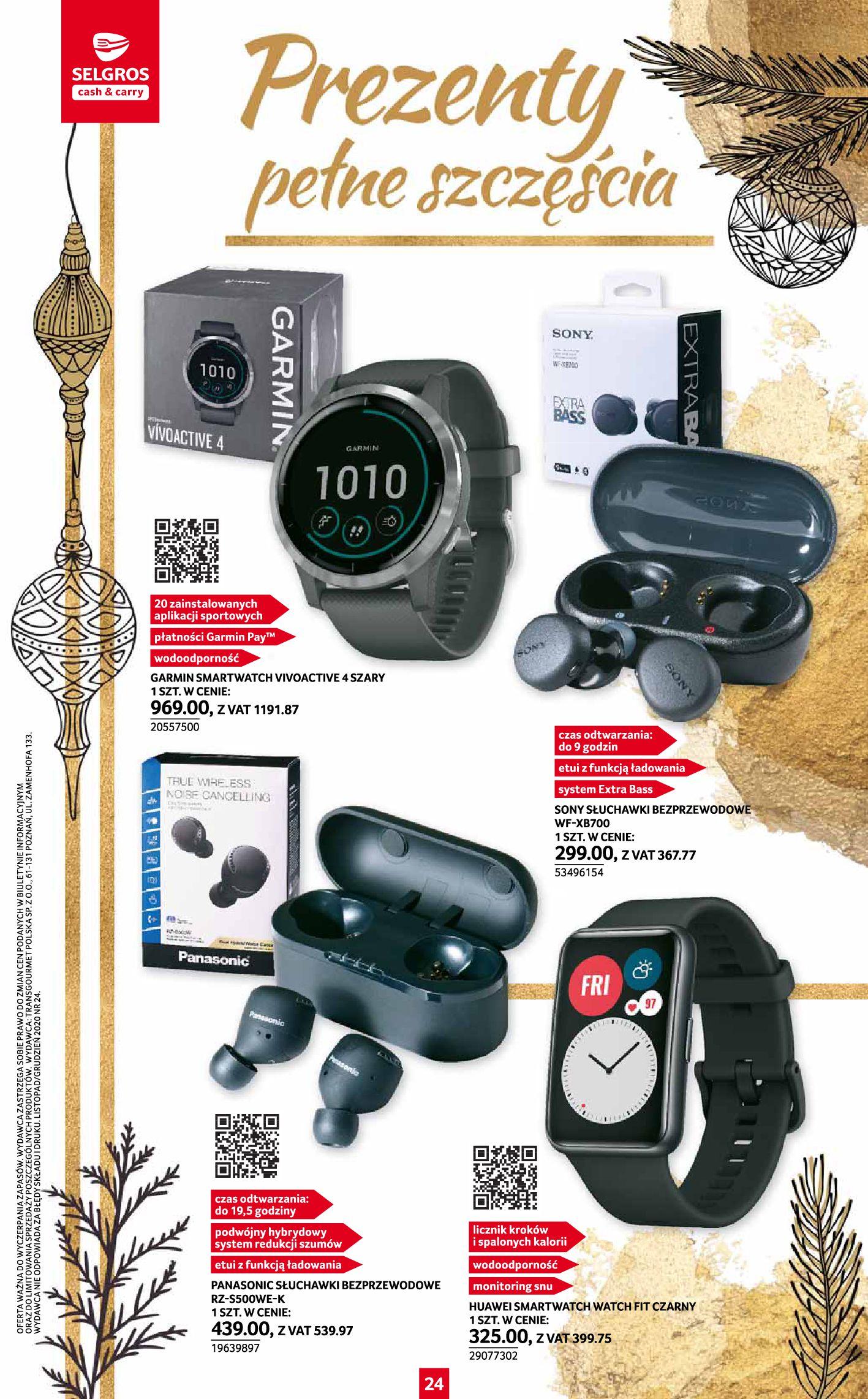 Gazetka Selgros: Katalog Prezenty 2020-11-19 page-24