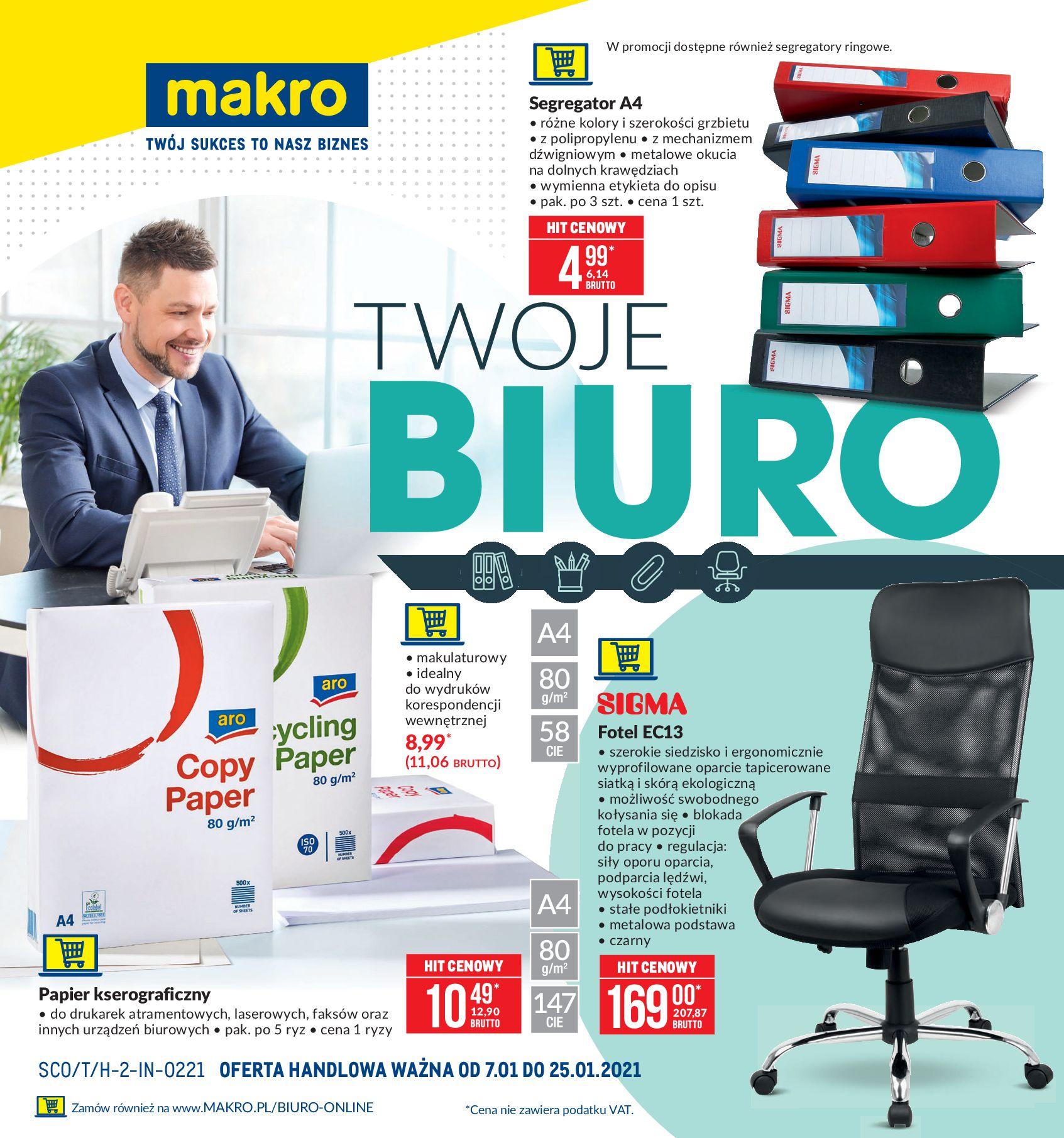 Gazetka Makro: Twoje biuro 2021-01-07 page-1