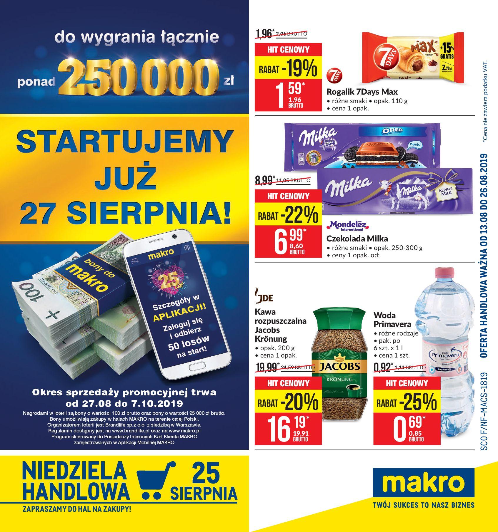 Gazetka Makro - Artykuły spożywcze-12.08.2019-26.08.2019-page-1