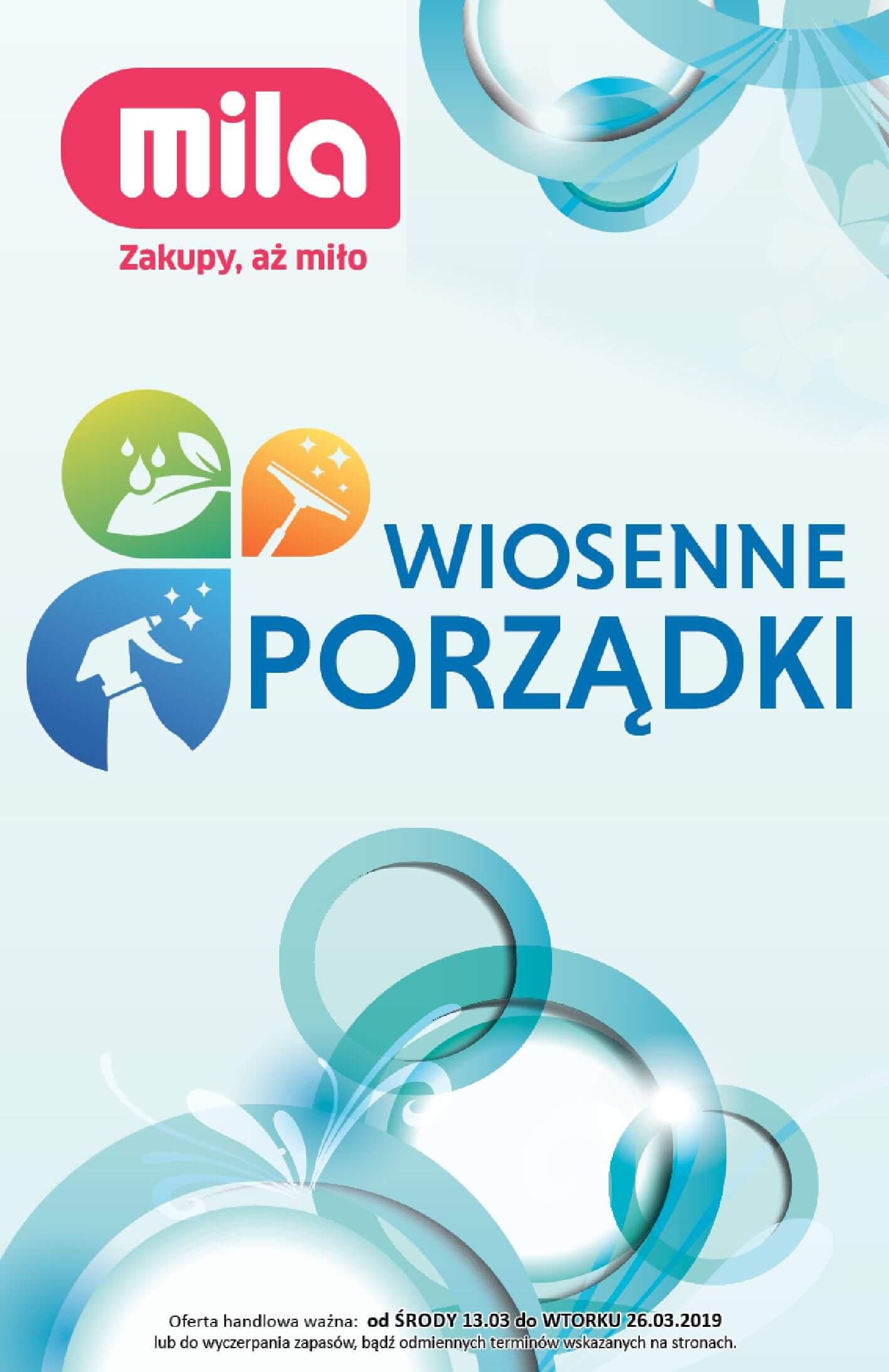 Gazetka Mila - Wiosenne porządki-12.03.2019-26.03.2019-page-