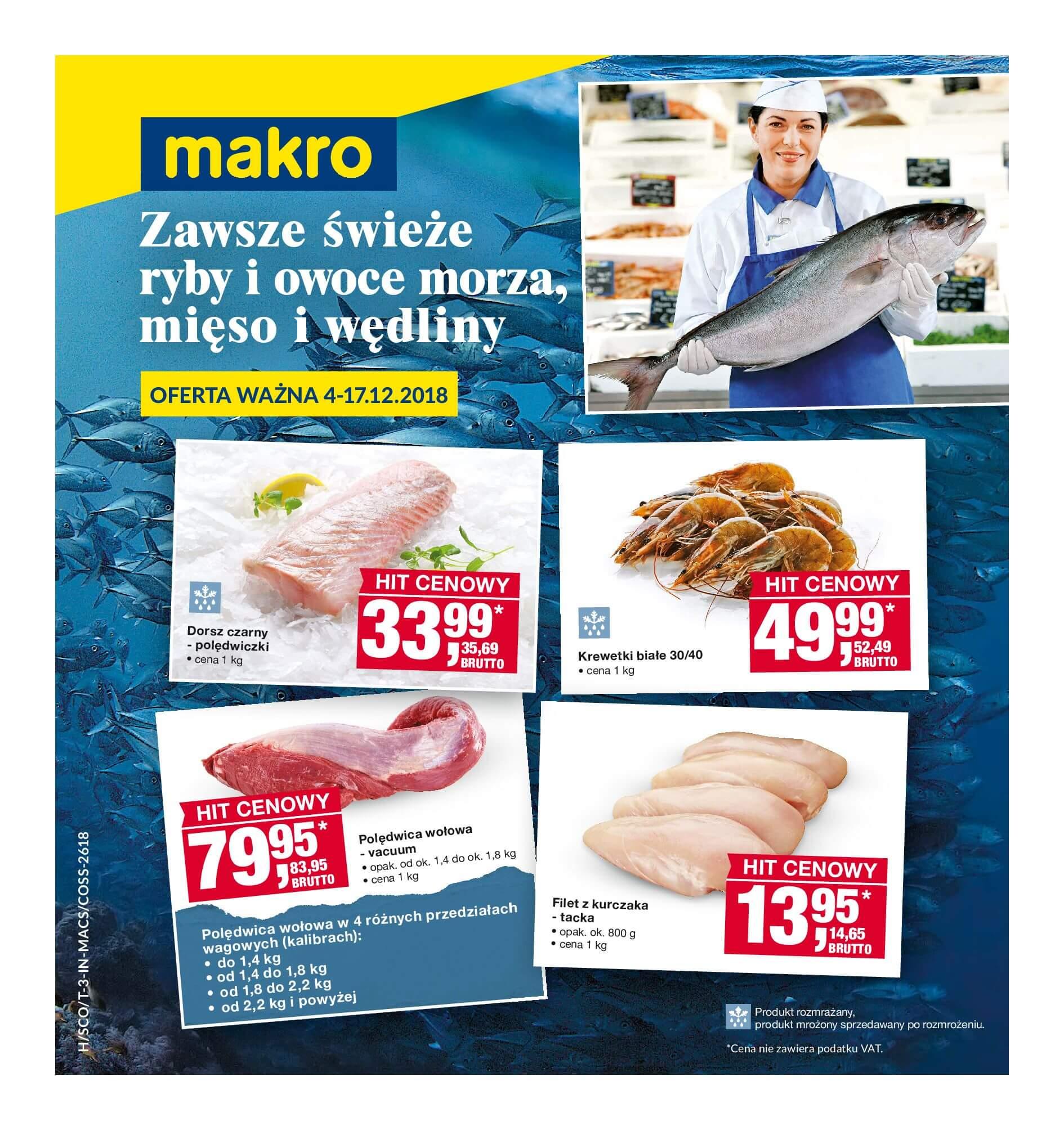 Gazetka Makro - Świeże ryby i owoce morza-02.12.2018-17.12.2018-page-
