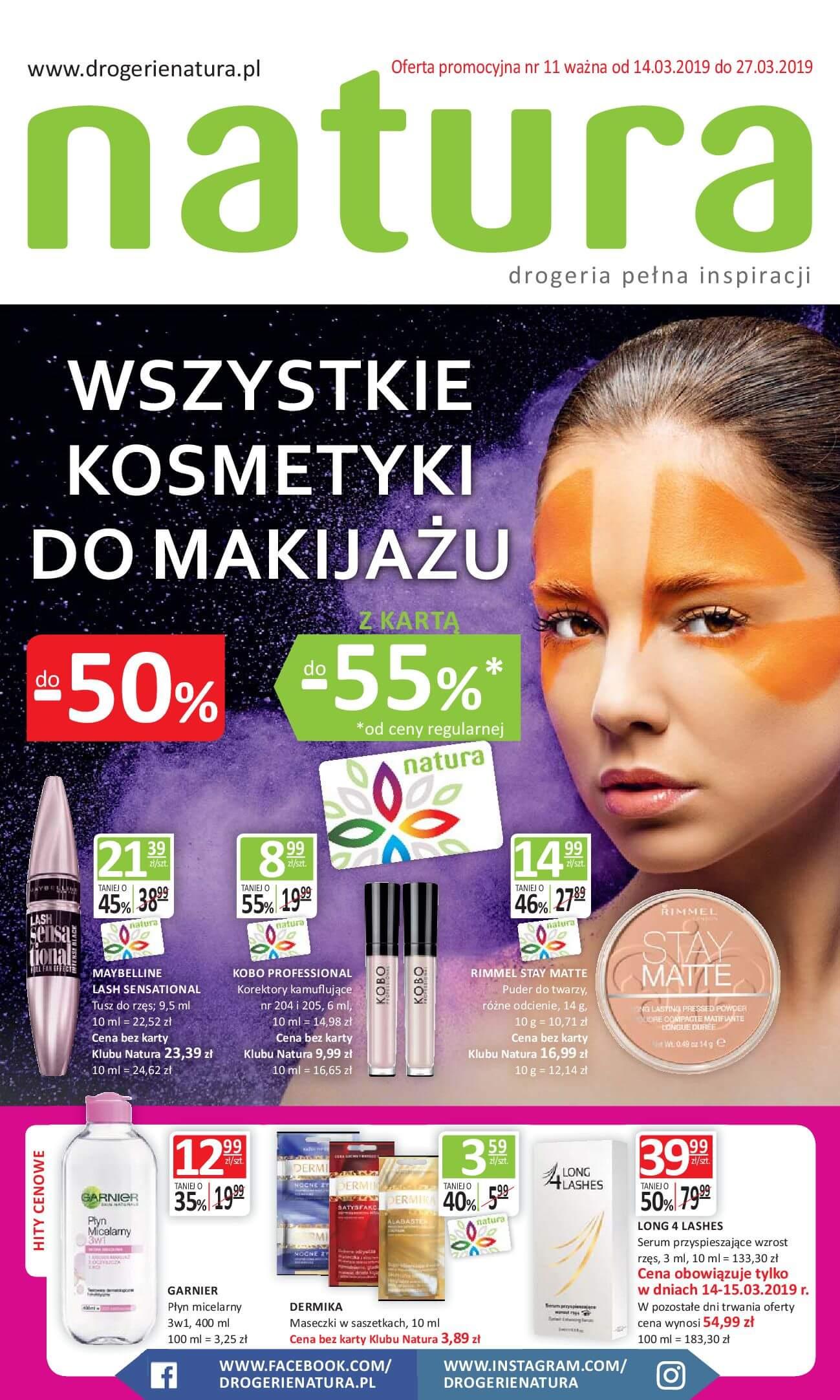 Gazetka Drogerie Natura - Oferta na artykuły kosmetyczne-13.03.2019-27.03.2019-page-