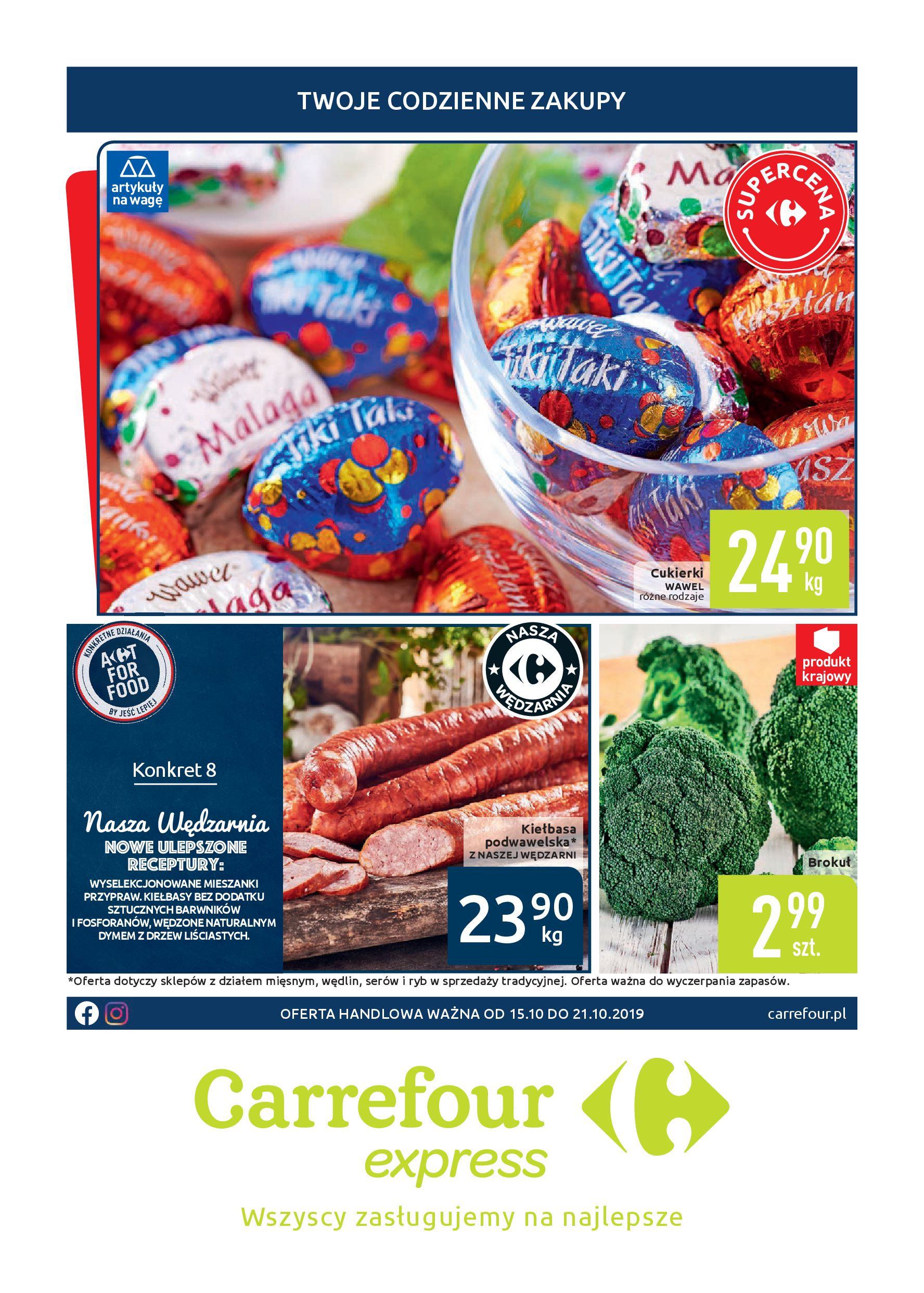 Gazetka Carrefour Express - Twoje codzienne zakupy-14.10.2019-21.10.2019-page-