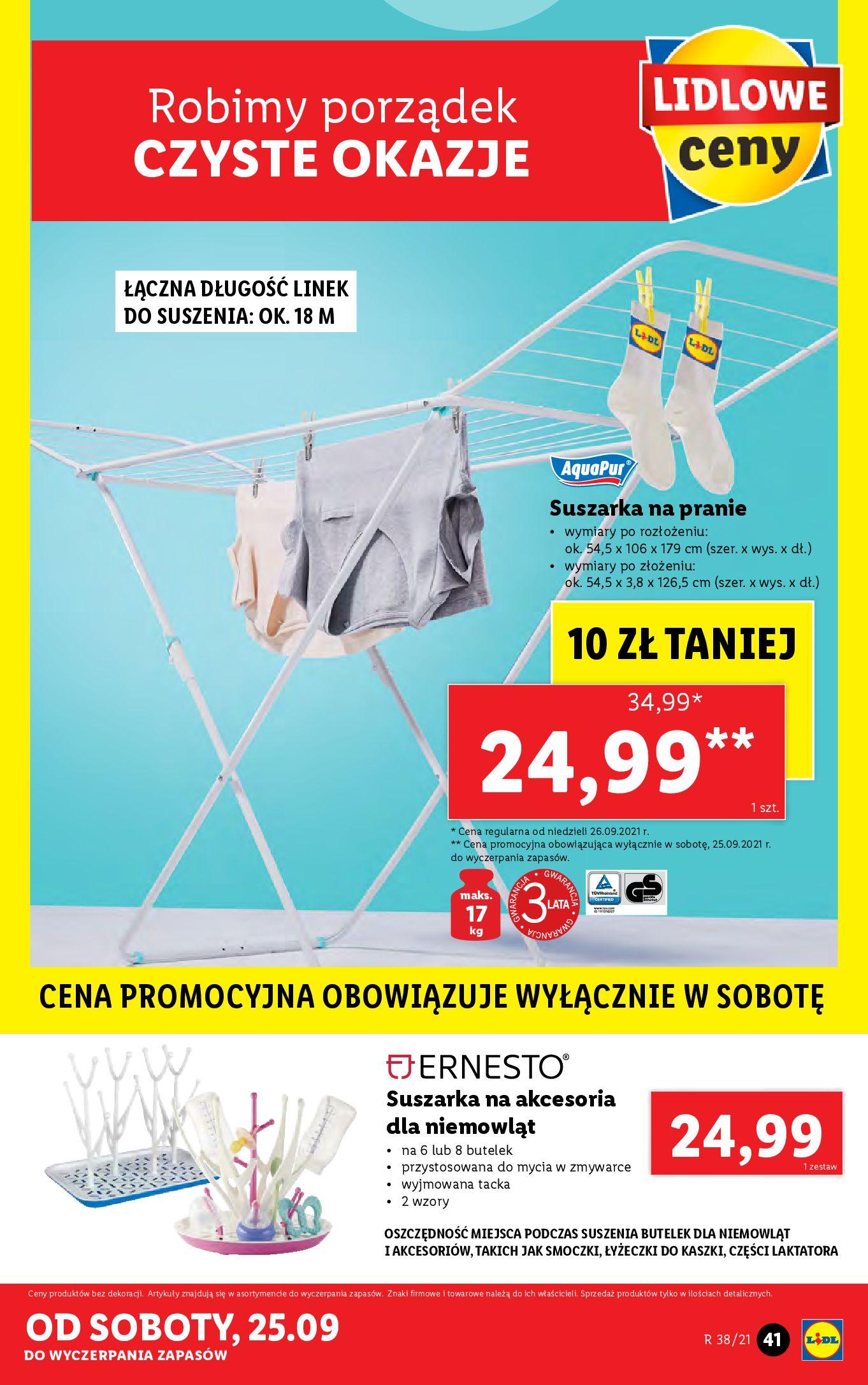 Gazetka Lidl: Gazetka Lidl - katalog ręczniki 2021-09-20 page-41