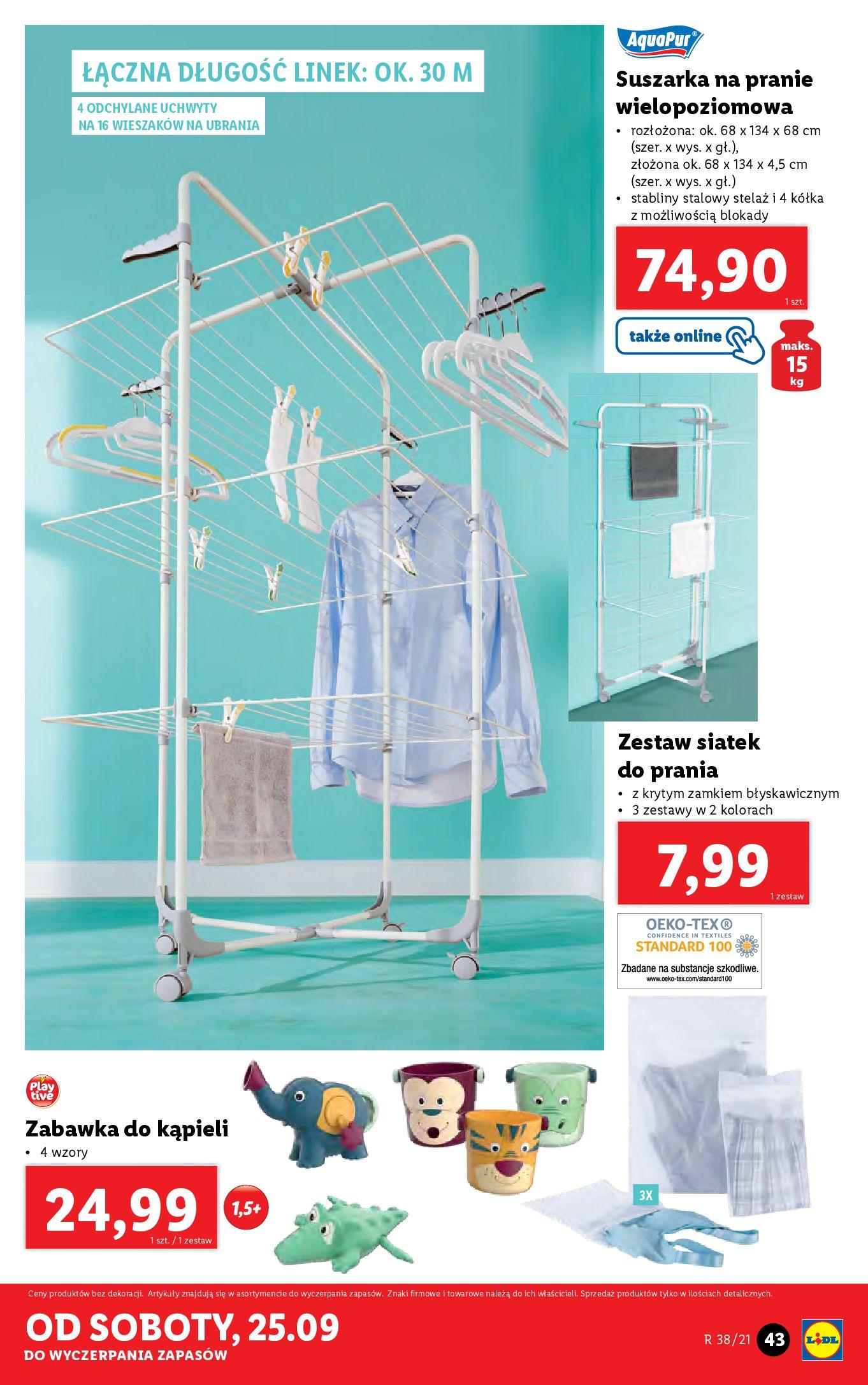 Gazetka Lidl: Gazetka Lidl - katalog ręczniki 2021-09-20 page-43