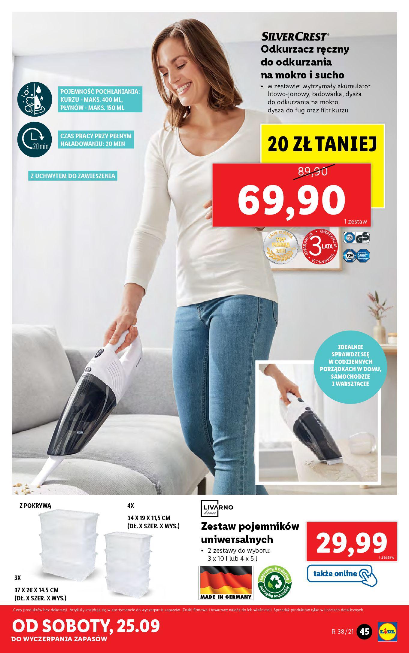 Gazetka Lidl: Gazetka Lidl - katalog ręczniki 2021-09-20 page-45