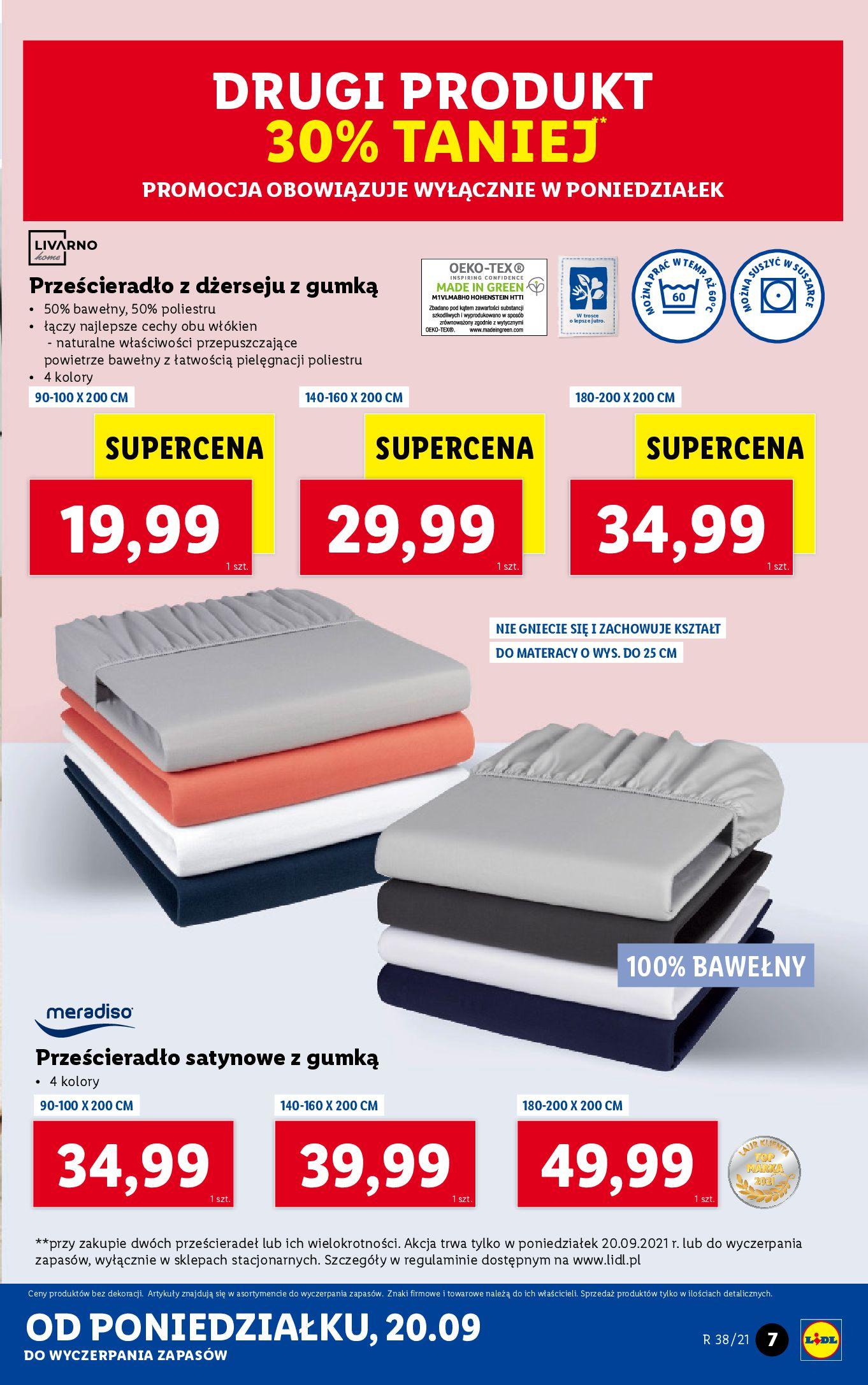 Gazetka Lidl: Gazetka Lidl - katalog ręczniki 2021-09-20 page-7