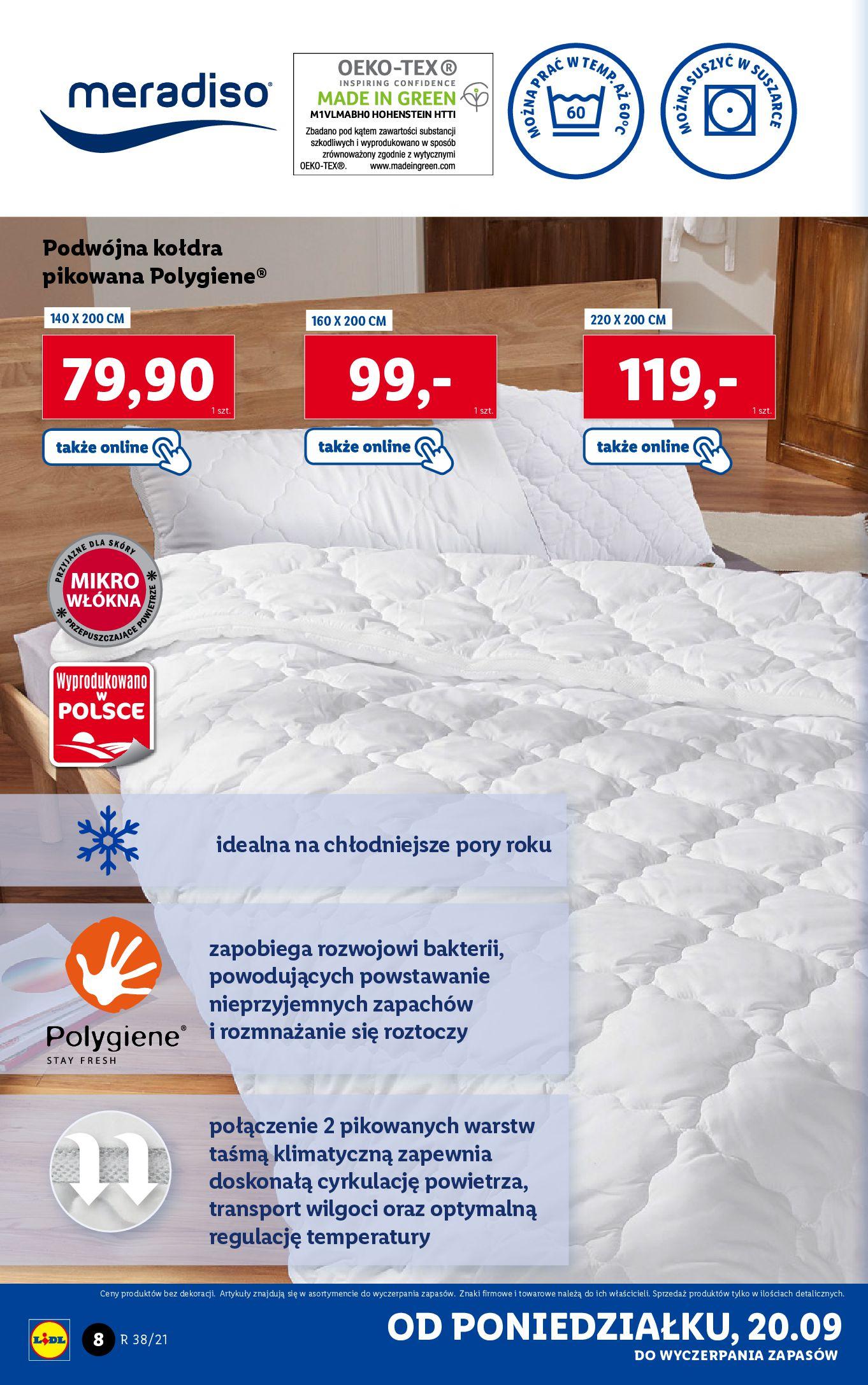 Gazetka Lidl: Gazetka Lidl - katalog ręczniki 2021-09-20 page-8