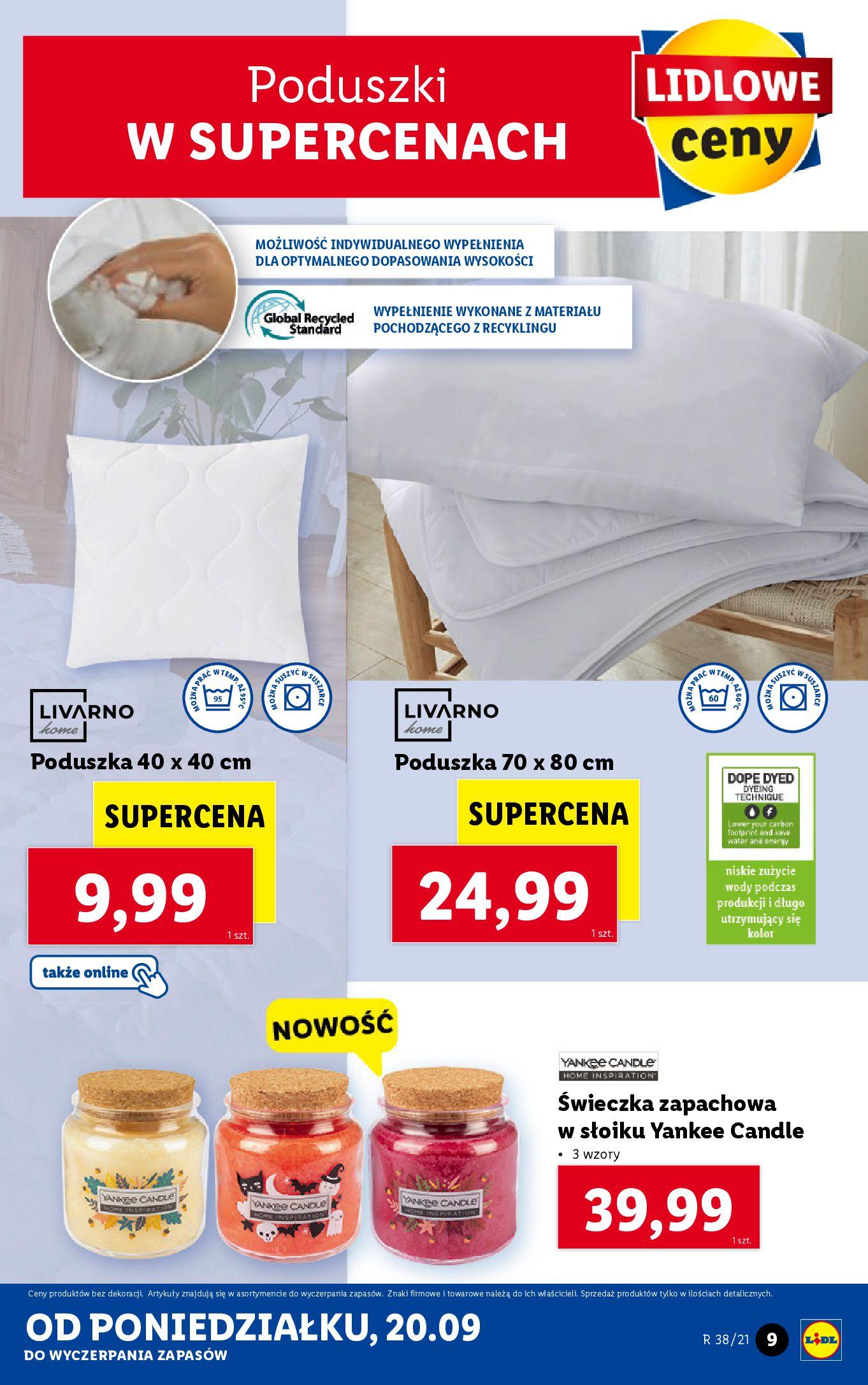 Gazetka Lidl: Gazetka Lidl - katalog ręczniki 2021-09-20 page-9