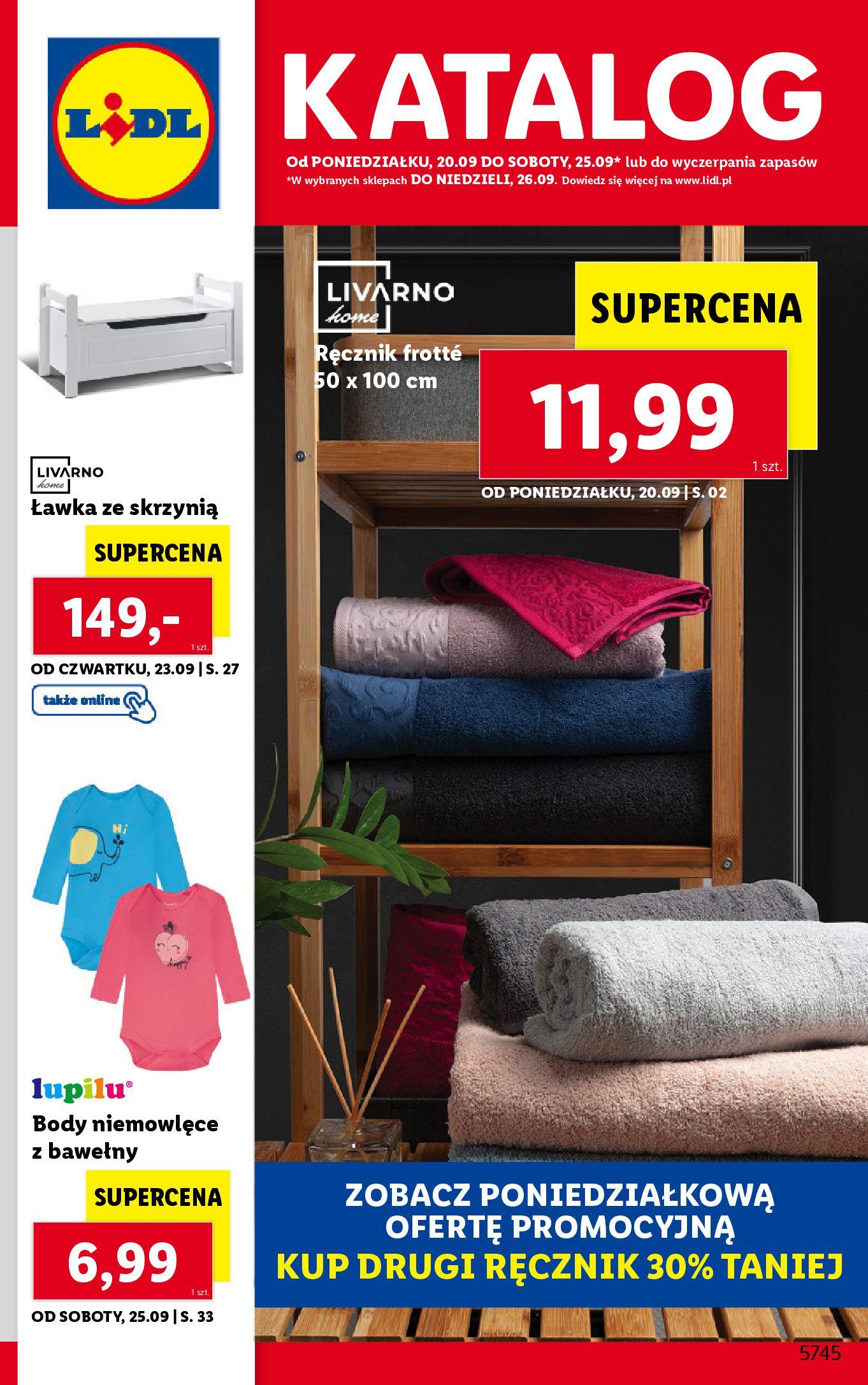 Gazetka Lidl: Gazetka Lidl - katalog ręczniki 2021-09-20 page-1