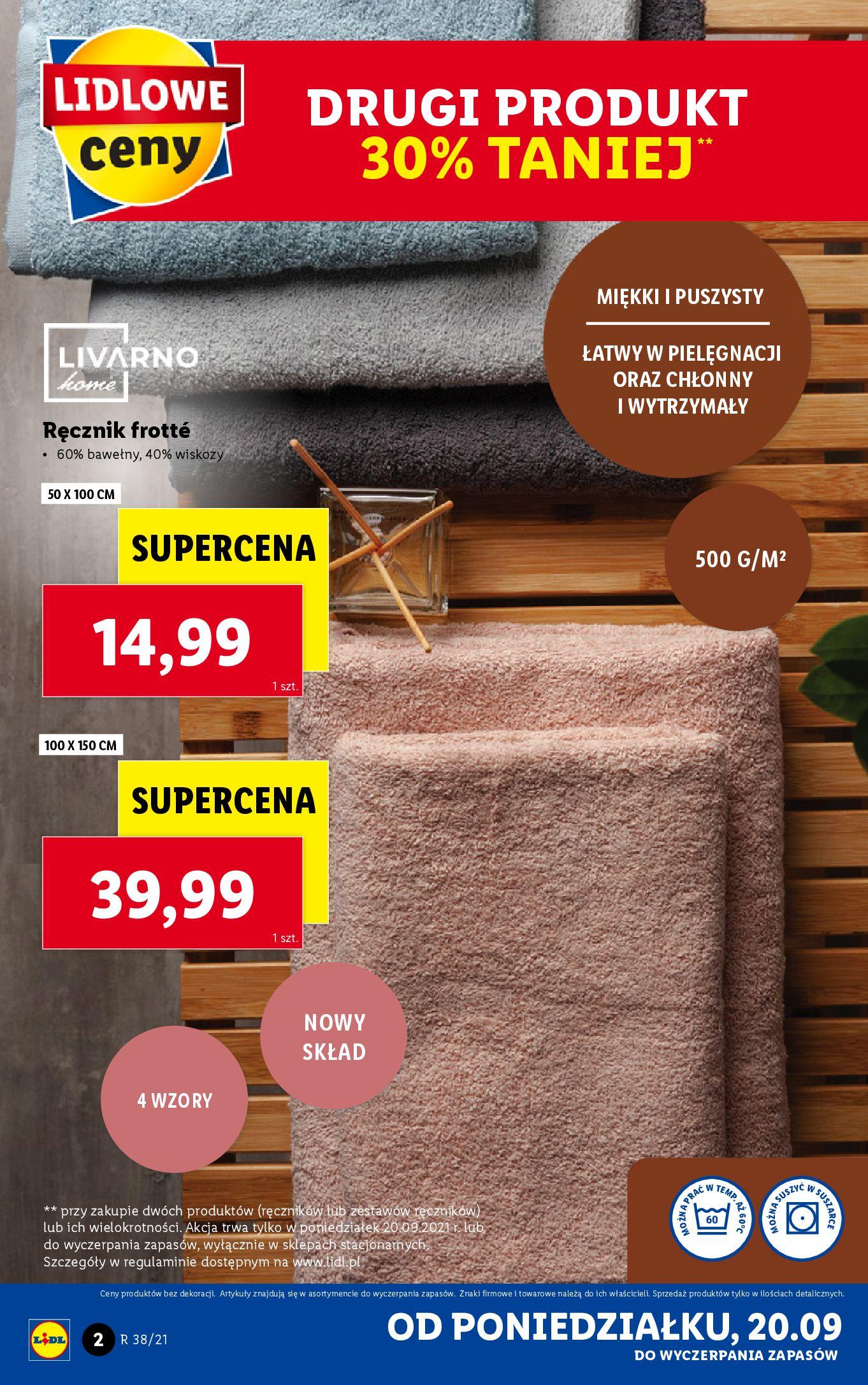 Gazetka Lidl: Gazetka Lidl - katalog ręczniki 2021-09-20 page-2