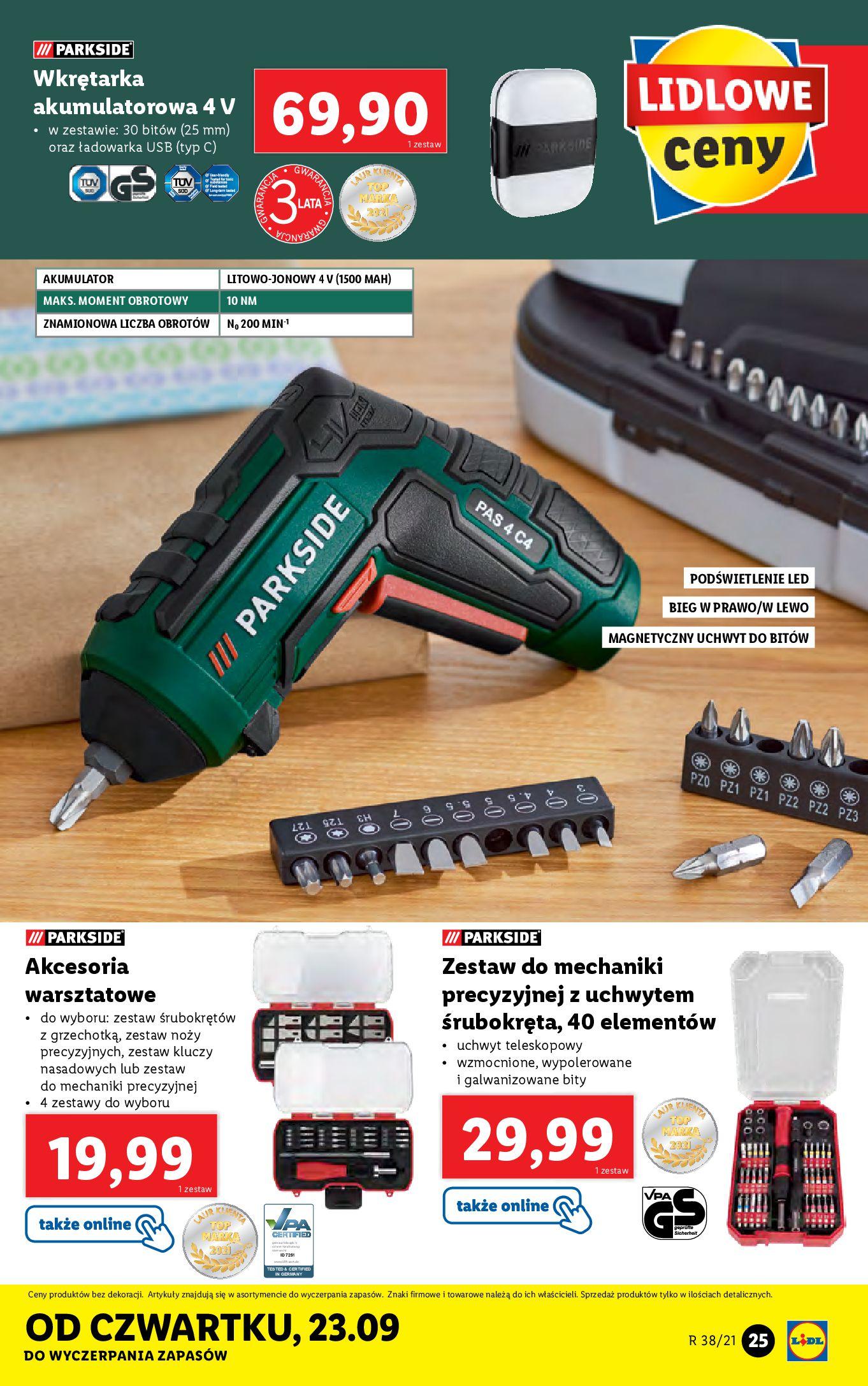 Gazetka Lidl: Gazetka Lidl - katalog ręczniki 2021-09-20 page-25