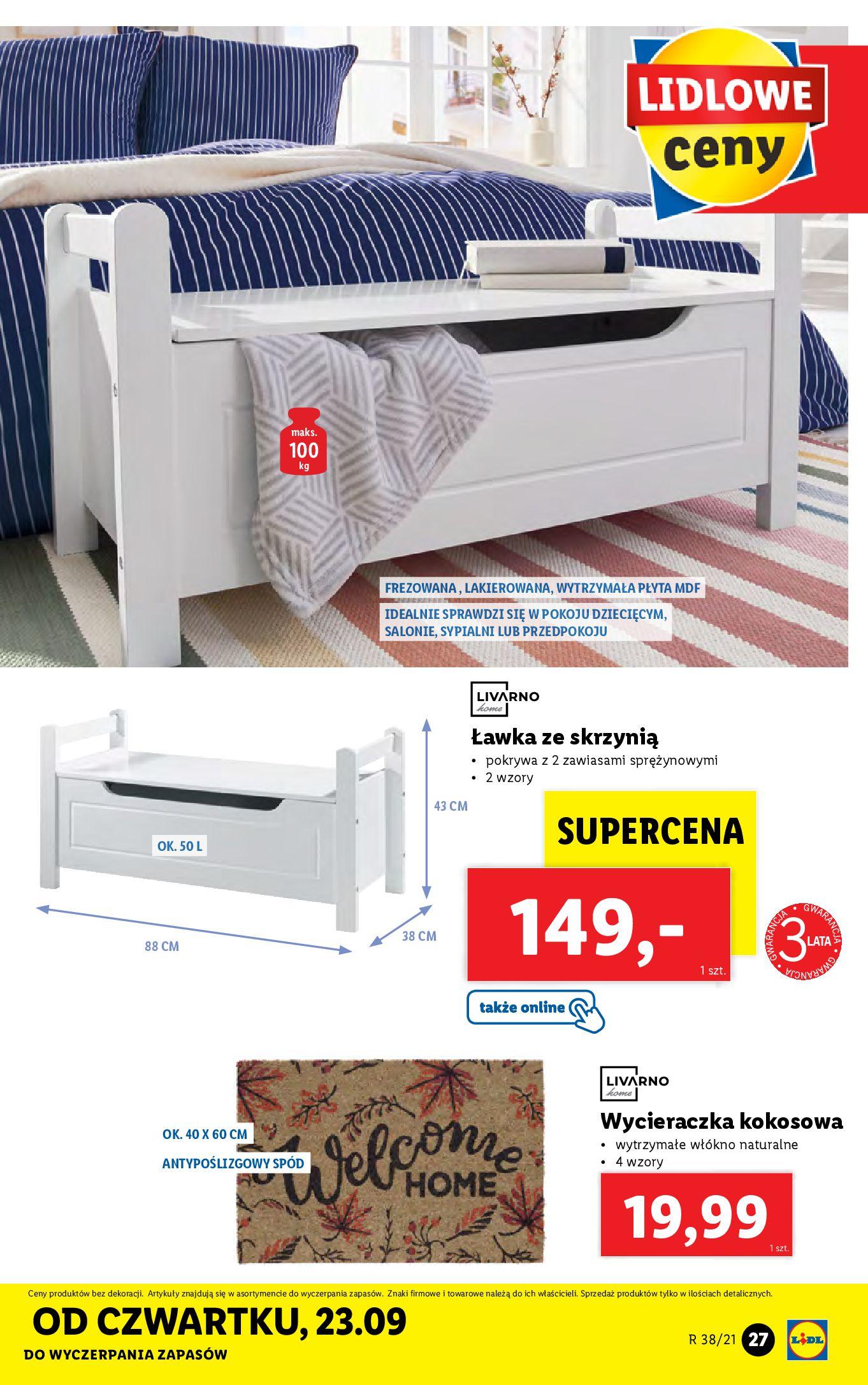 Gazetka Lidl: Gazetka Lidl - katalog ręczniki 2021-09-20 page-27