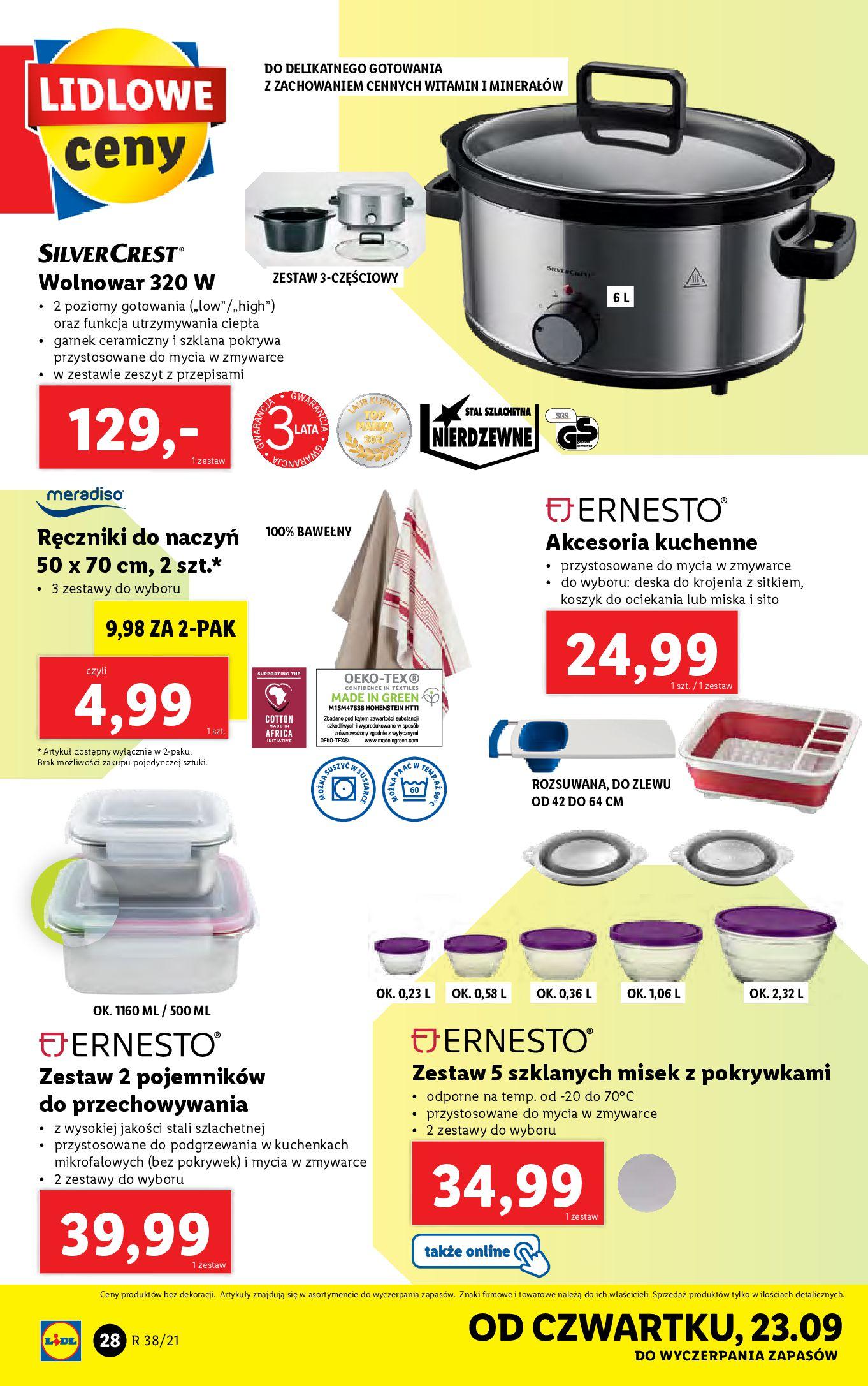 Gazetka Lidl: Gazetka Lidl - katalog ręczniki 2021-09-20 page-28