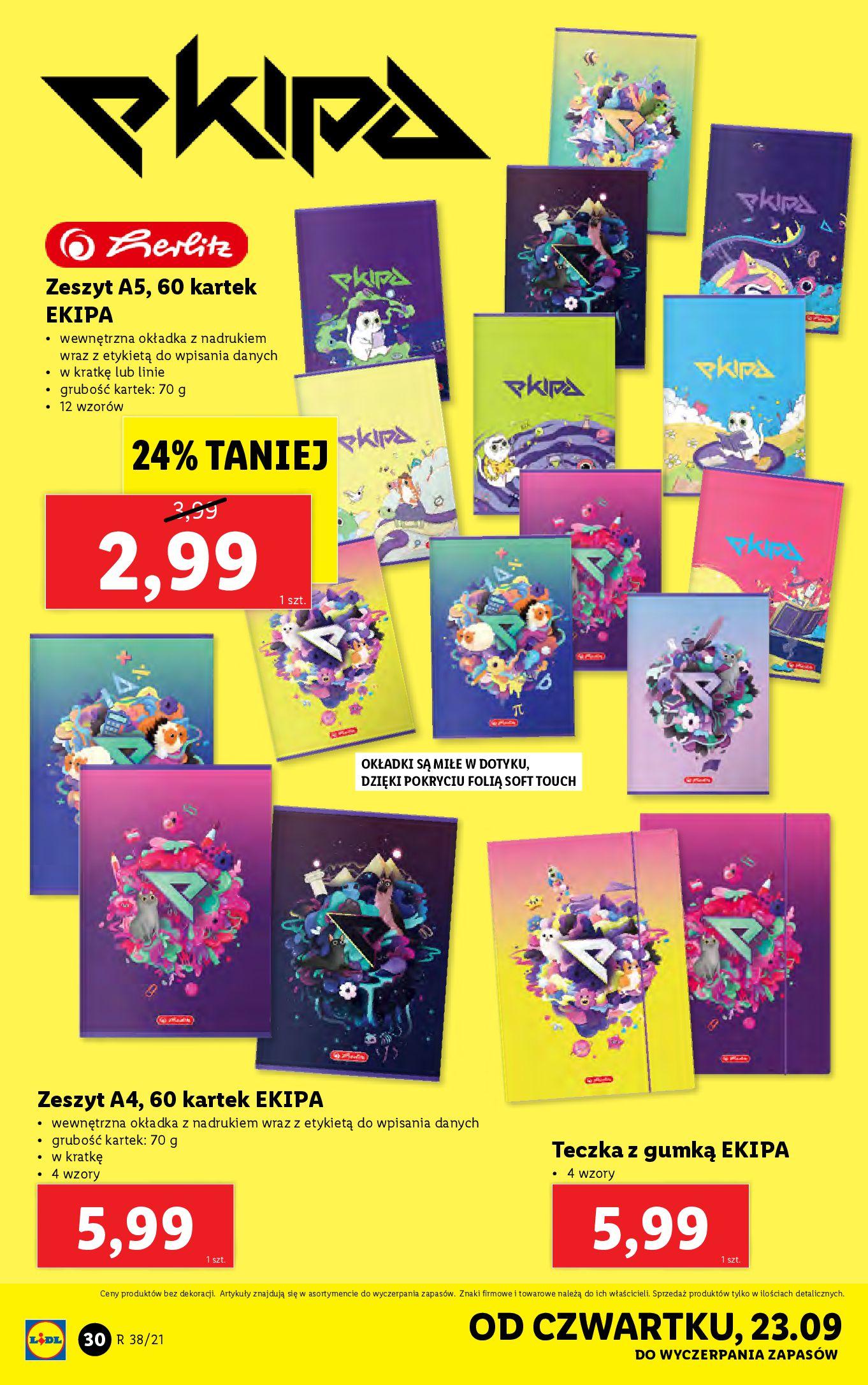 Gazetka Lidl: Gazetka Lidl - katalog ręczniki 2021-09-20 page-30