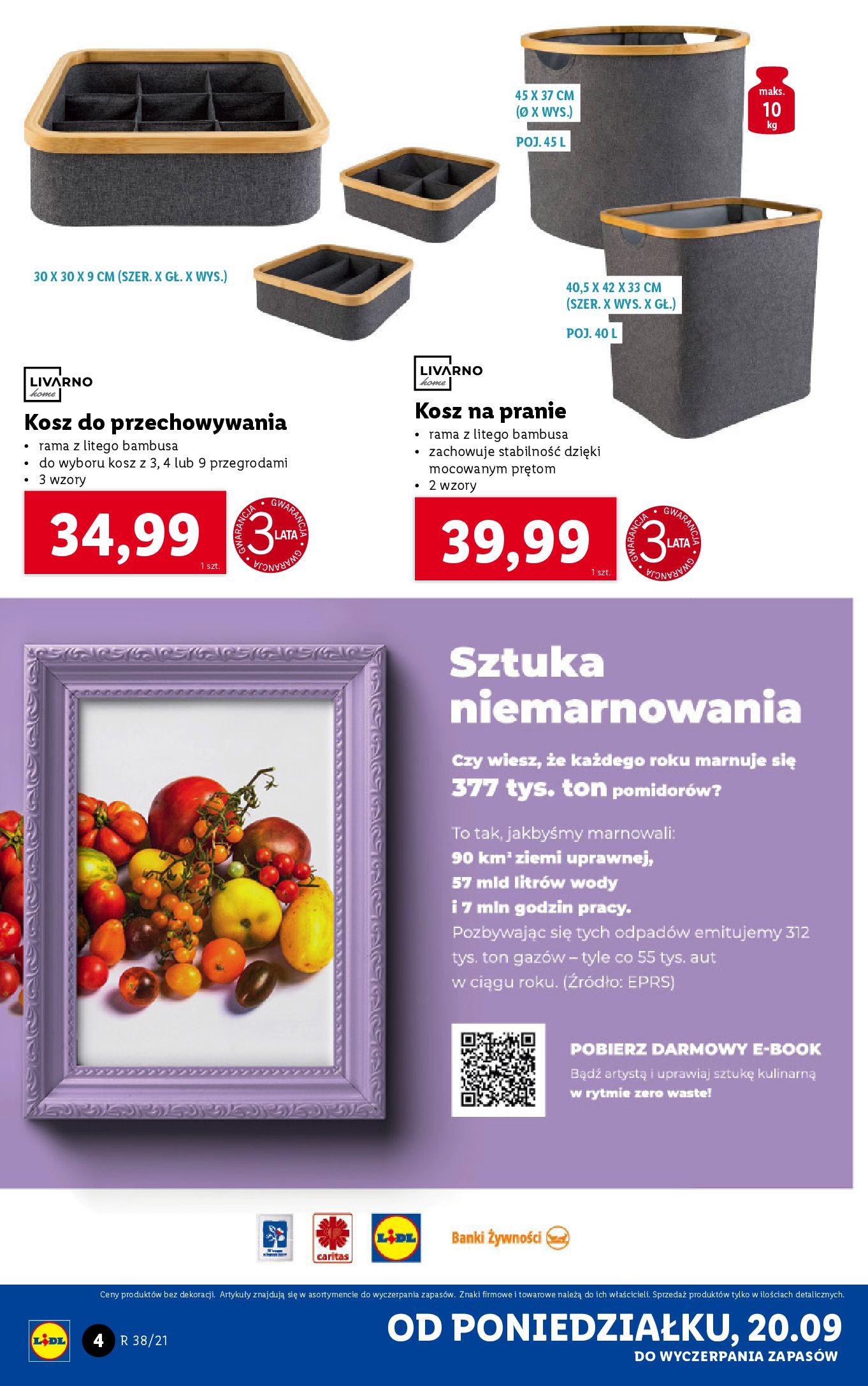 Gazetka Lidl: Gazetka Lidl - katalog ręczniki 2021-09-20 page-4