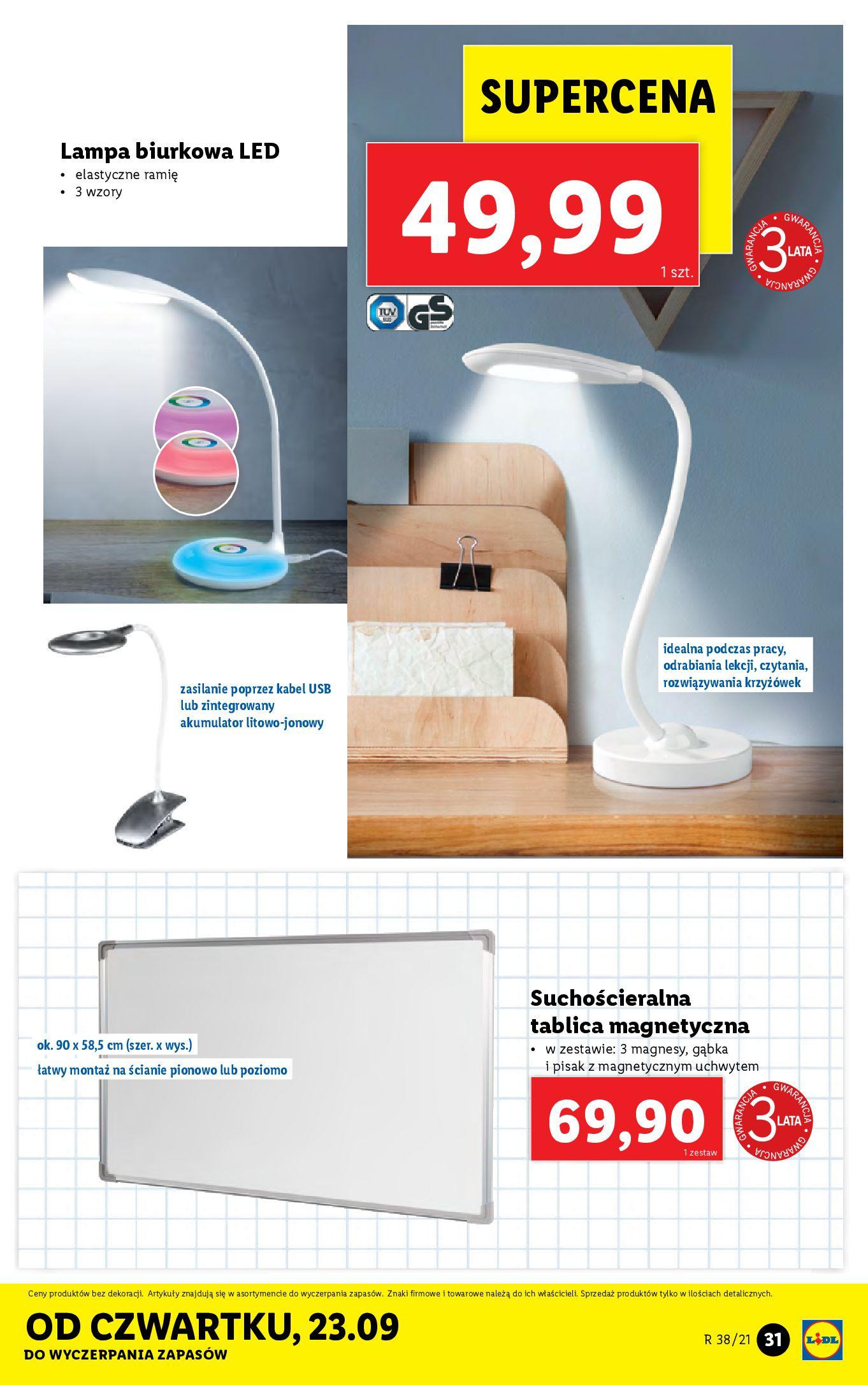 Gazetka Lidl: Gazetka Lidl - katalog ręczniki 2021-09-20 page-31