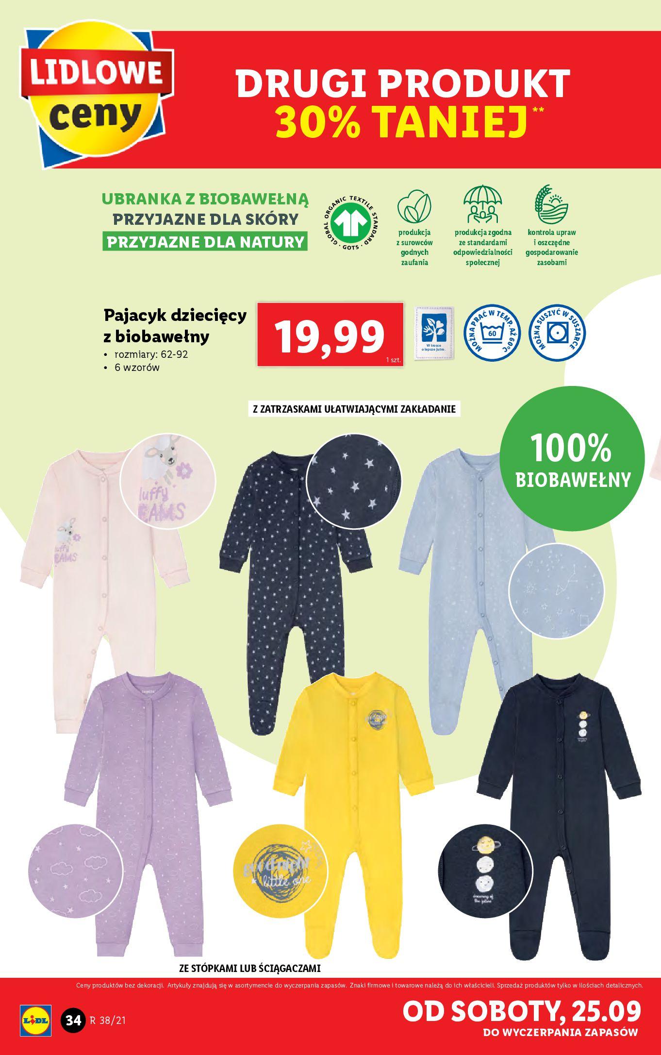 Gazetka Lidl: Gazetka Lidl - katalog ręczniki 2021-09-20 page-34