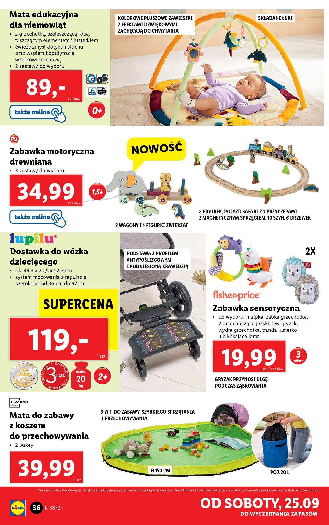 Gazetka Lidl: Gazetka Lidl - katalog ręczniki 2021-09-20 page-36