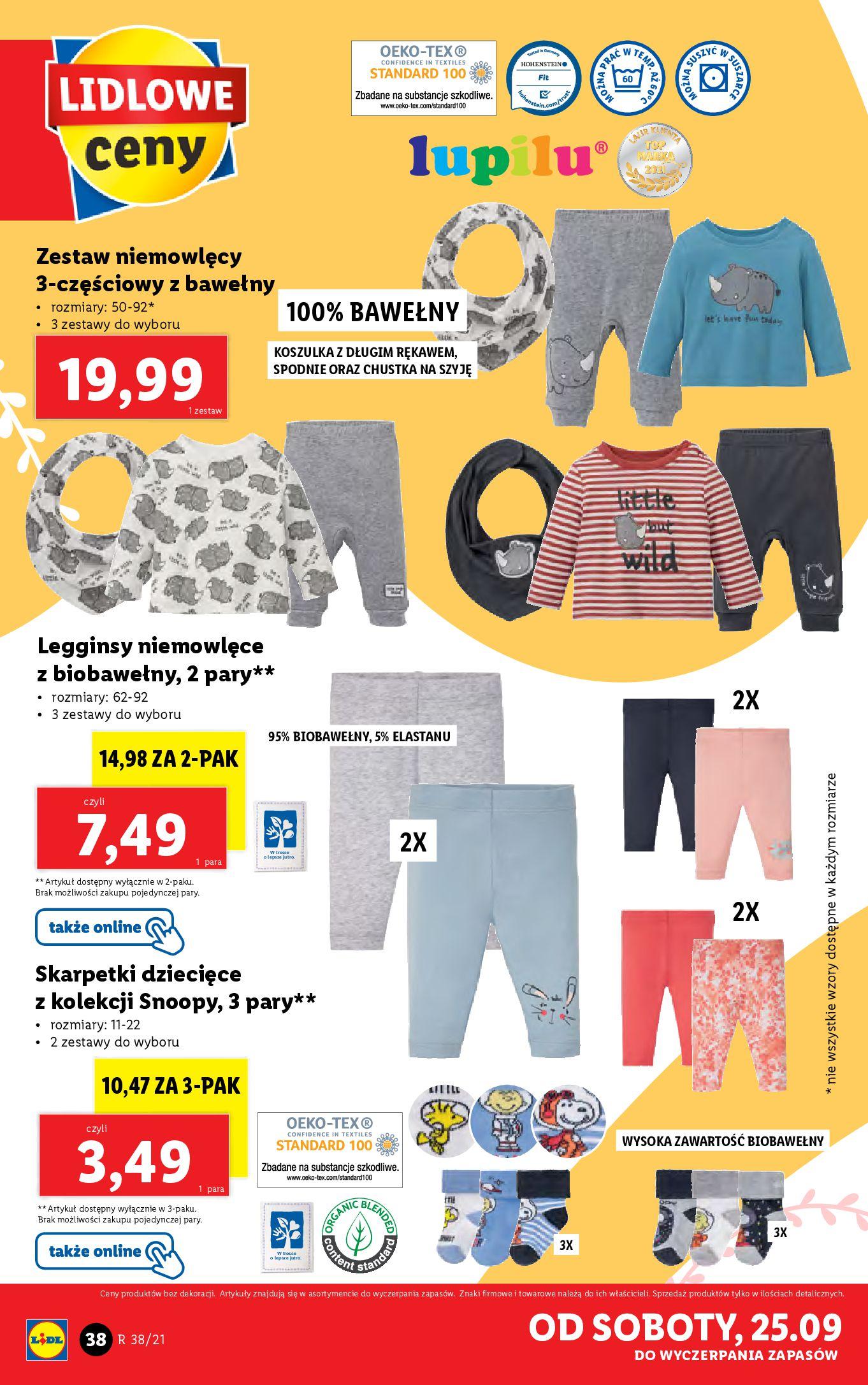 Gazetka Lidl: Gazetka Lidl - katalog ręczniki 2021-09-20 page-38