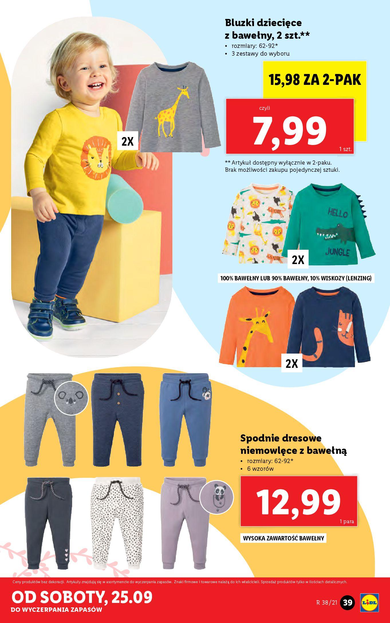 Gazetka Lidl: Gazetka Lidl - katalog ręczniki 2021-09-20 page-39