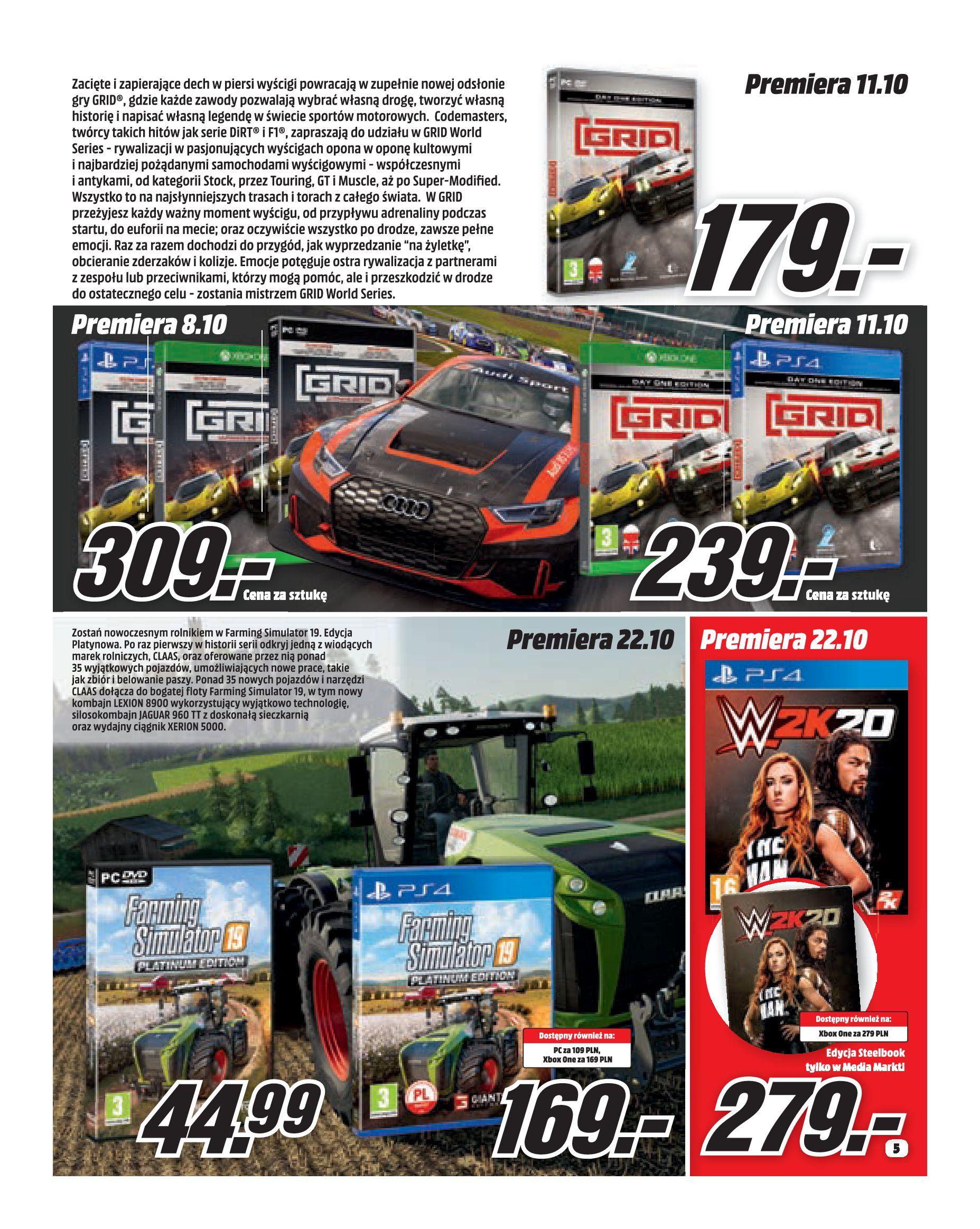 Gazetka Media Markt - Co słychać w rozrywce?-30.09.2019-31.10.2019-page-5