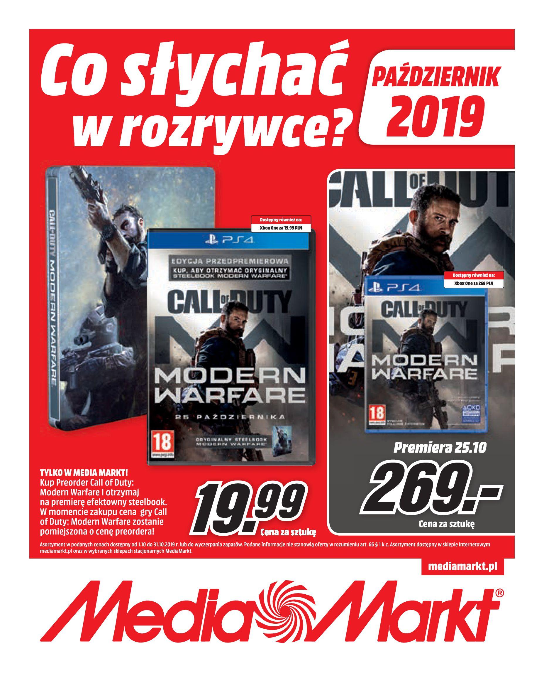 Gazetka Media Markt - Co słychać w rozrywce?-30.09.2019-31.10.2019-page-1