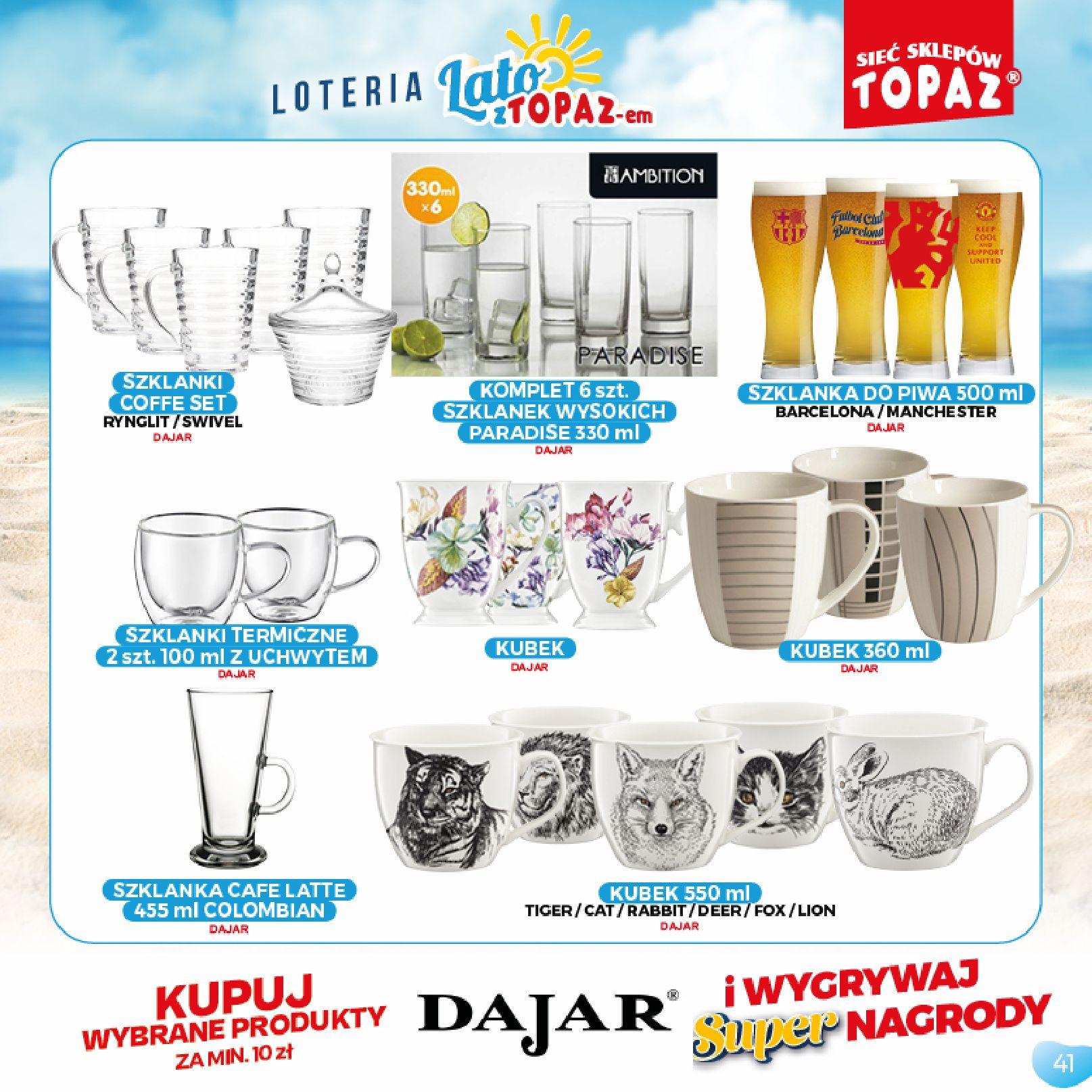 Gazetka TOPAZ: Gazetka TOPAZ - Loteria 2021-07-05 page-41