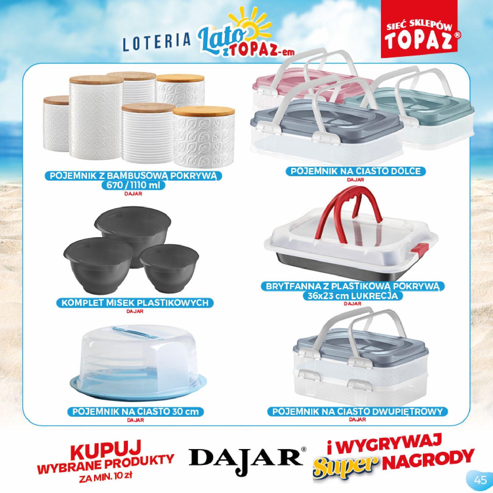 Gazetka TOPAZ: Gazetka TOPAZ - Loteria 2021-07-05 page-45