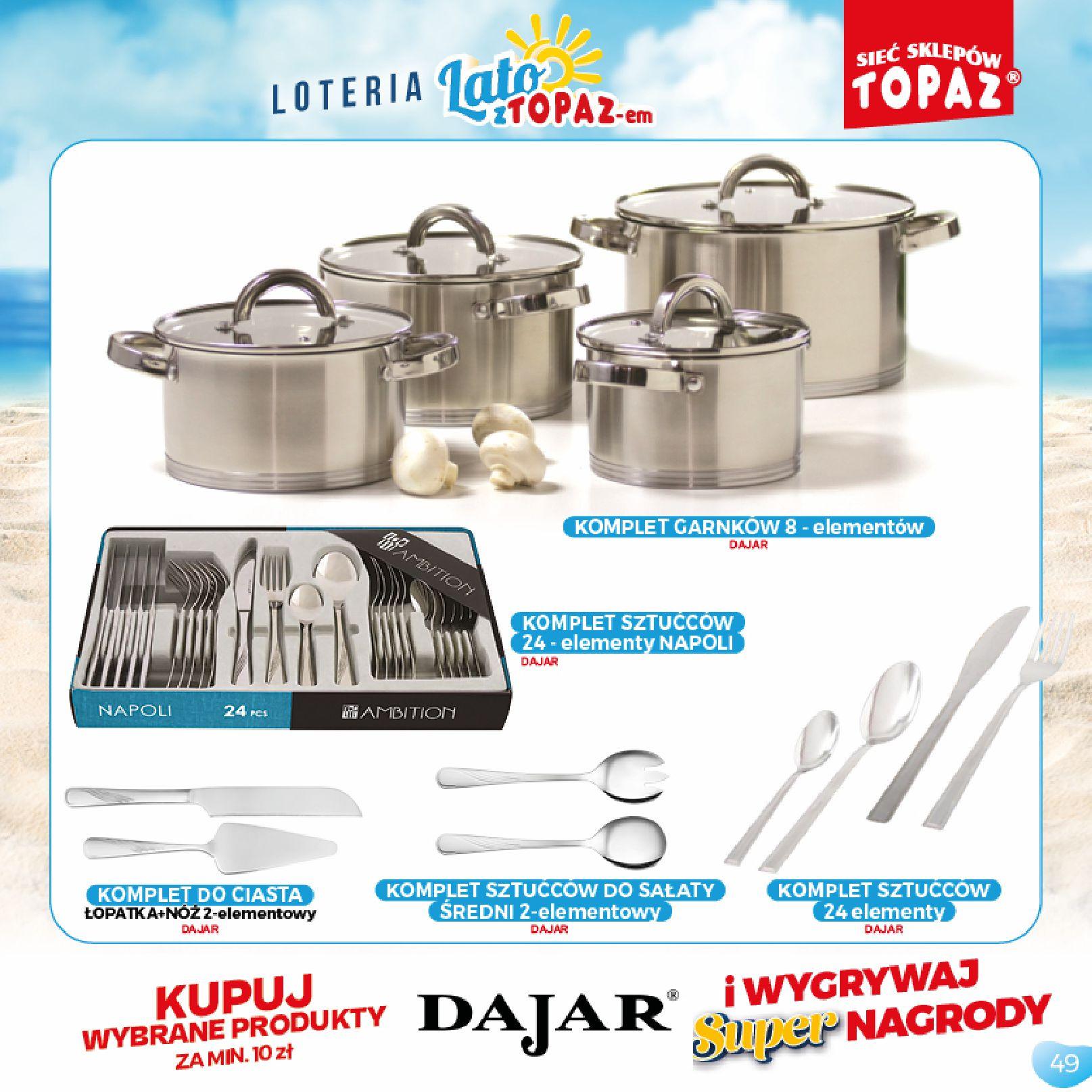 Gazetka TOPAZ: Gazetka TOPAZ - Loteria 2021-07-05 page-49
