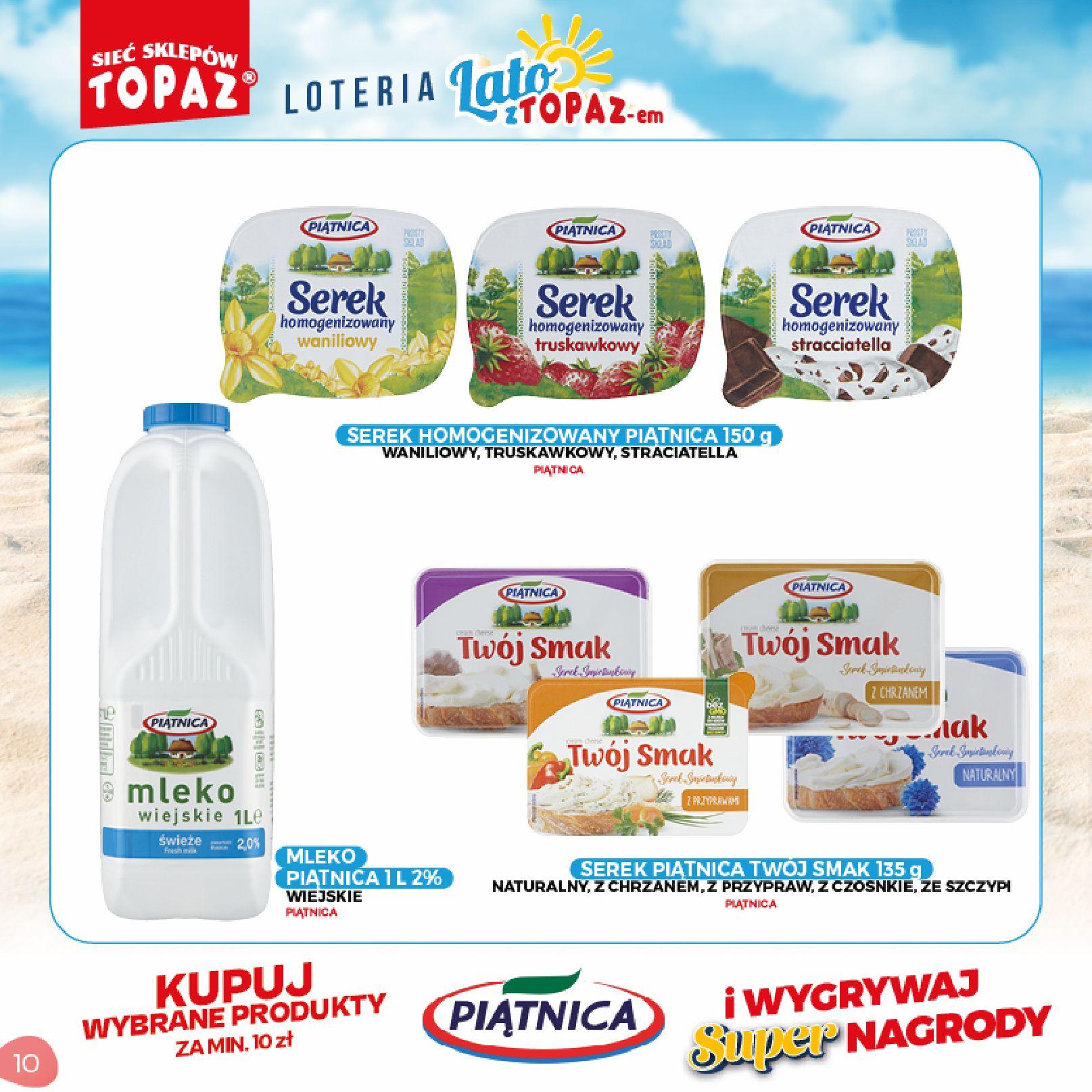 Gazetka TOPAZ: Gazetka TOPAZ - Loteria 2021-07-05 page-10