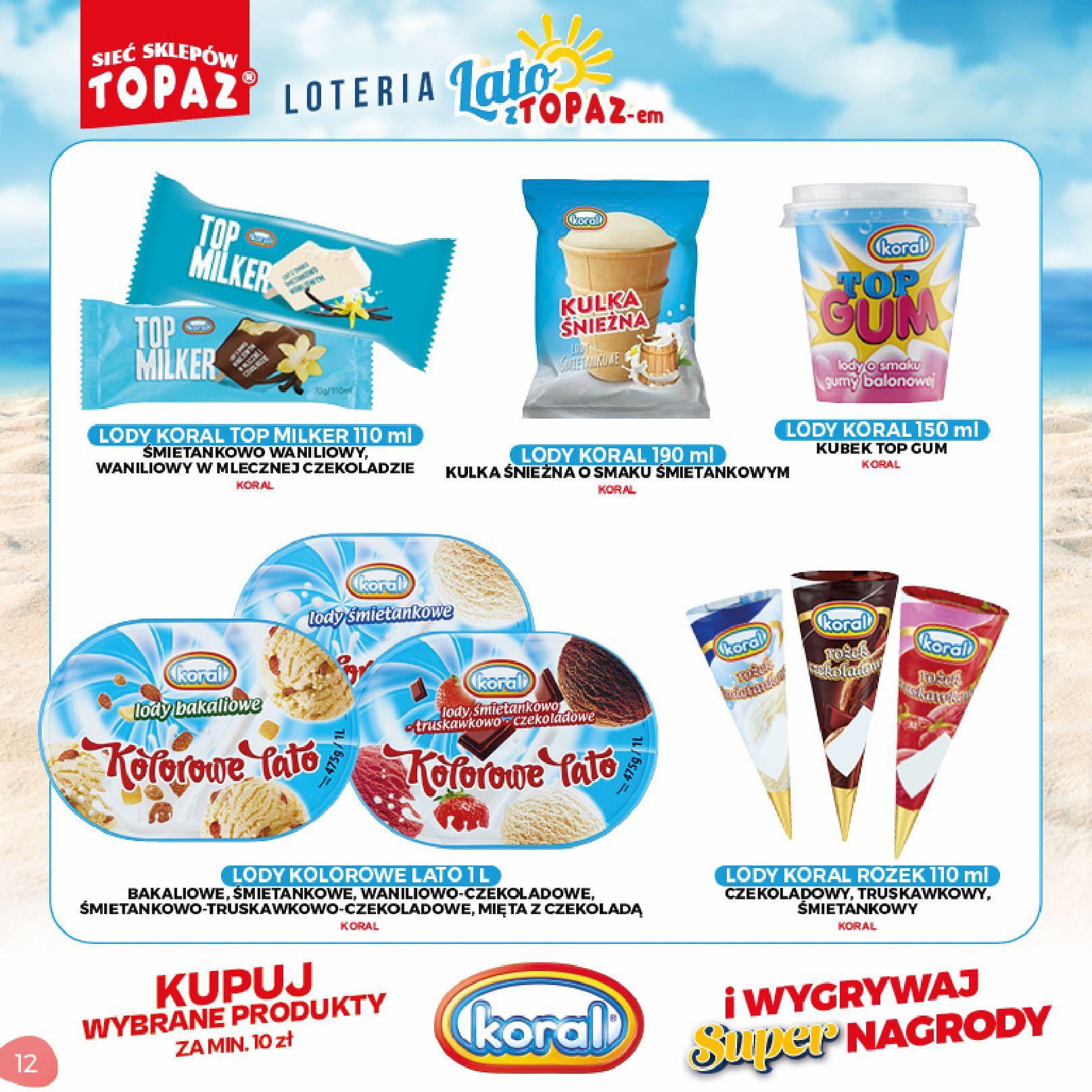 Gazetka TOPAZ: Gazetka TOPAZ - Loteria 2021-07-05 page-12