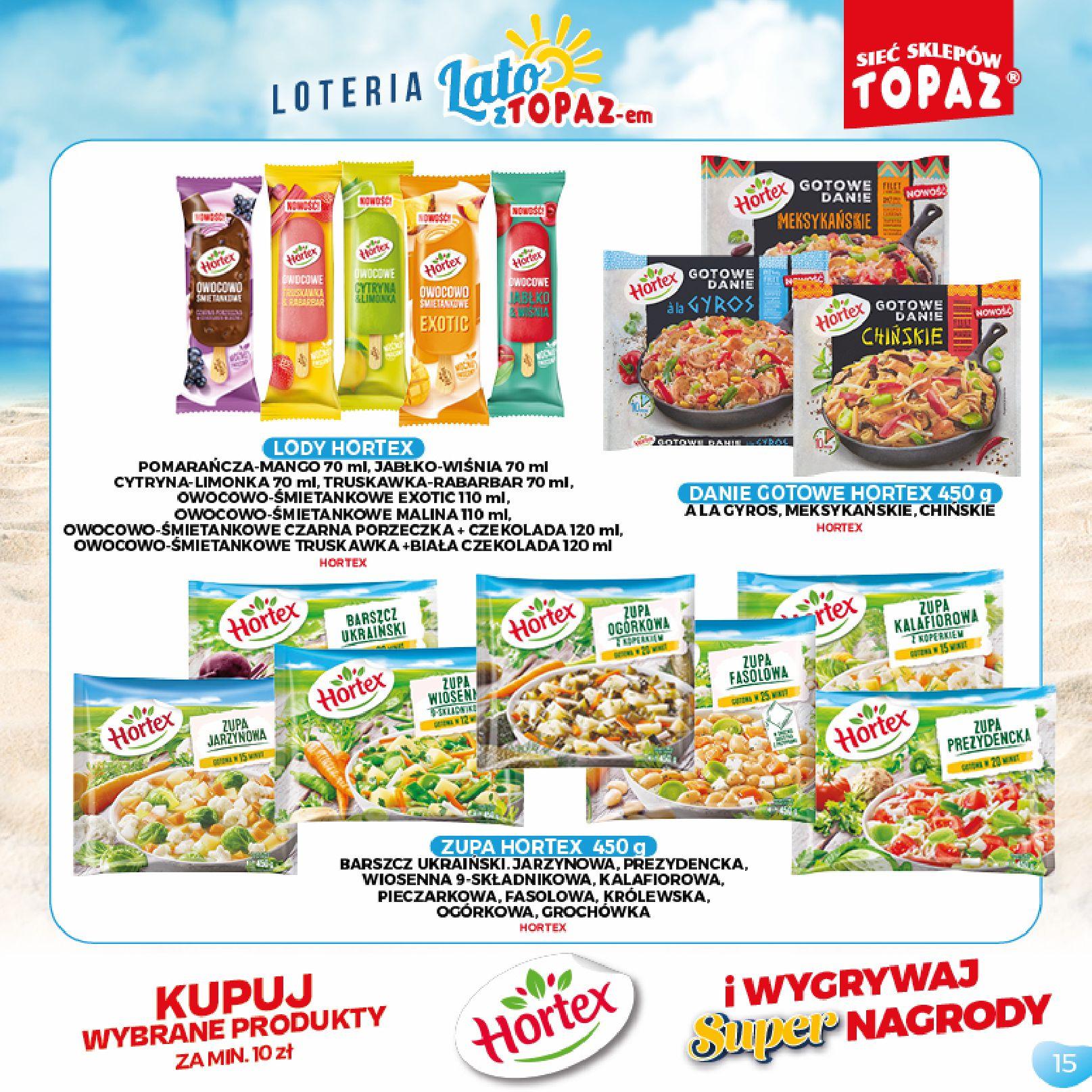 Gazetka TOPAZ: Gazetka TOPAZ - Loteria 2021-07-05 page-15
