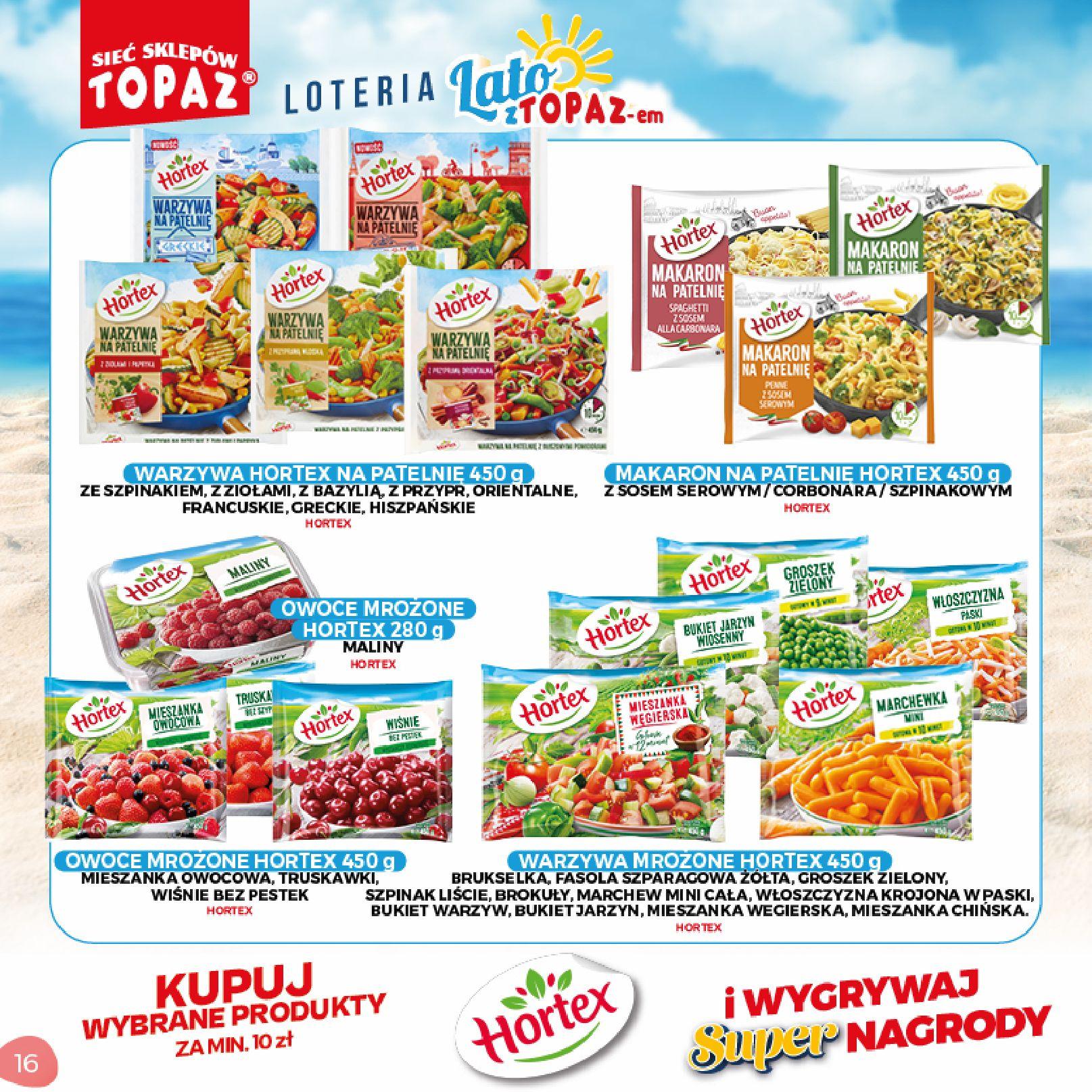 Gazetka TOPAZ: Gazetka TOPAZ - Loteria 2021-07-05 page-16